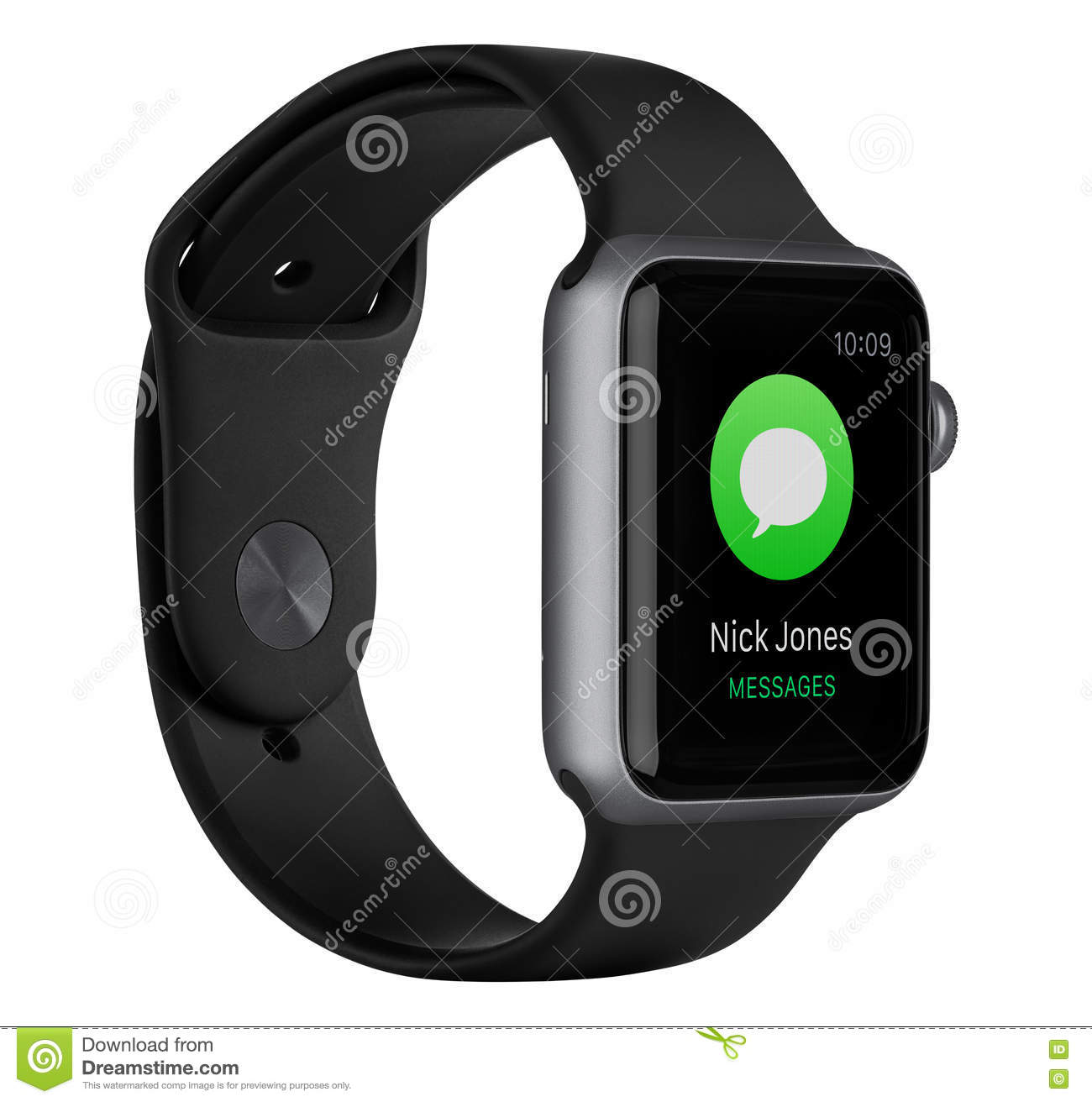 big sale 9abf1 2736b Apple Watch Sport 42mm Space Gray Aluminum Case With Black Band ...