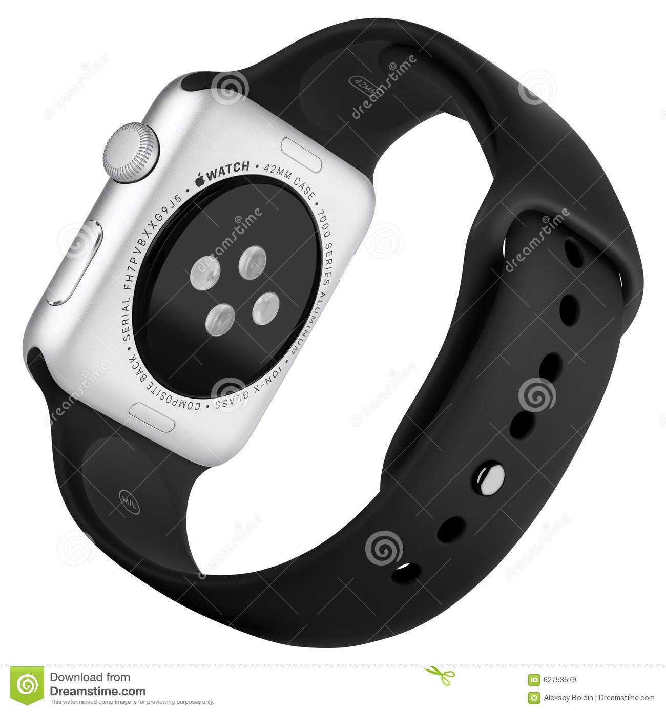 Apple Watch Sport 42mm Silver Aluminum Case With White ...