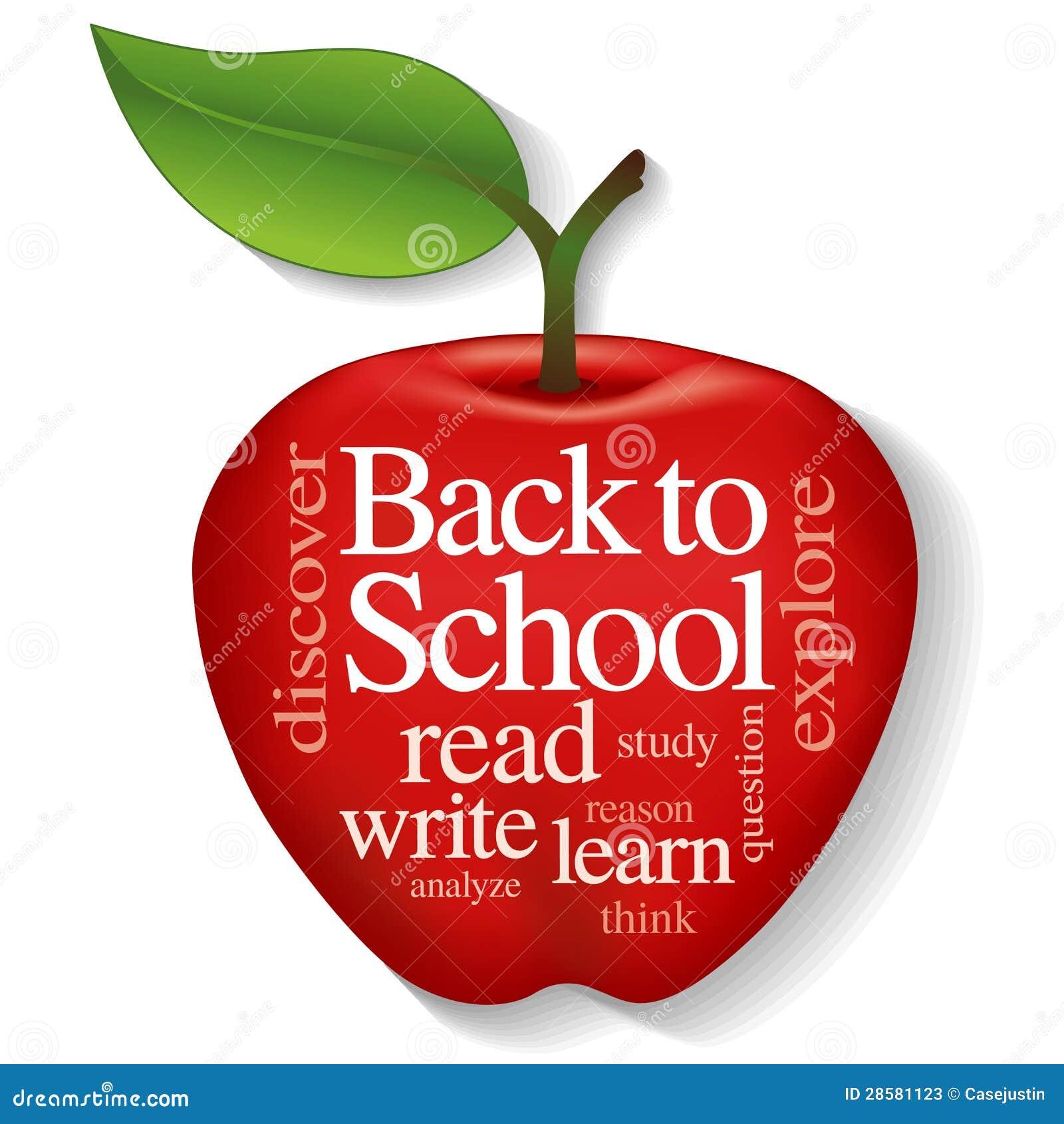 Apple Word Cloud, Back To School Stock Vector ...