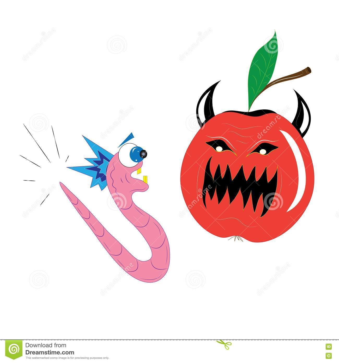Apple And A Worm. Royalty Free Stock Photography - Image: 17835257