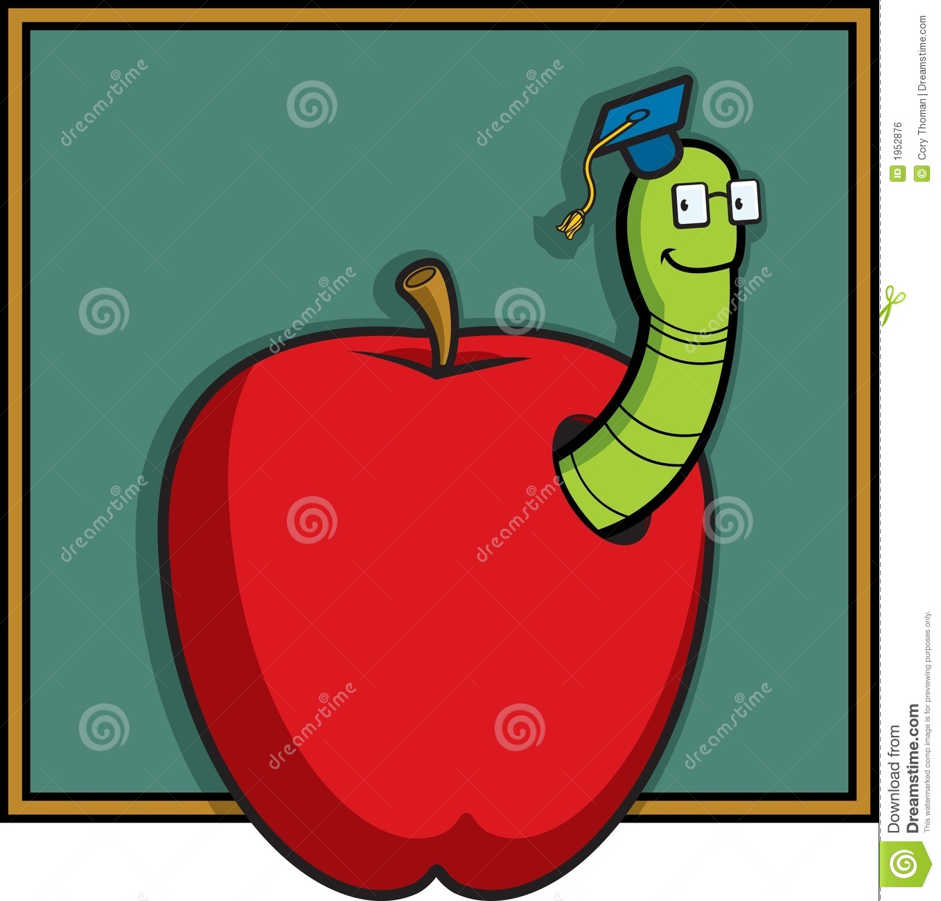 clipart apple worm - photo #27