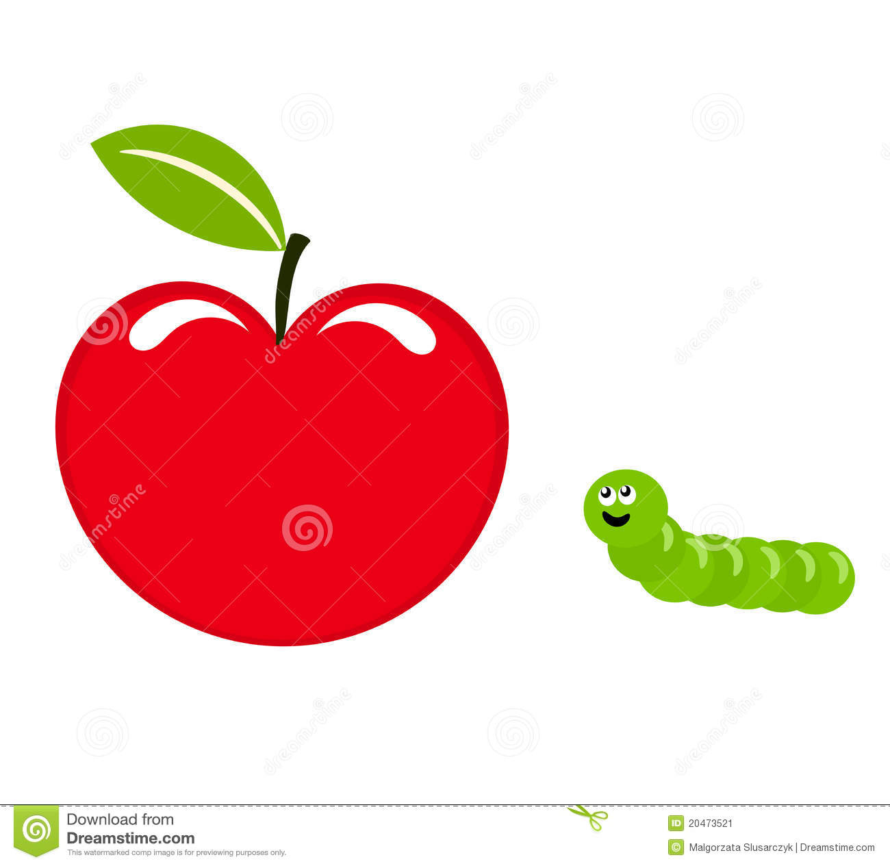Apple And Worm Stock Image - Image: 20473521