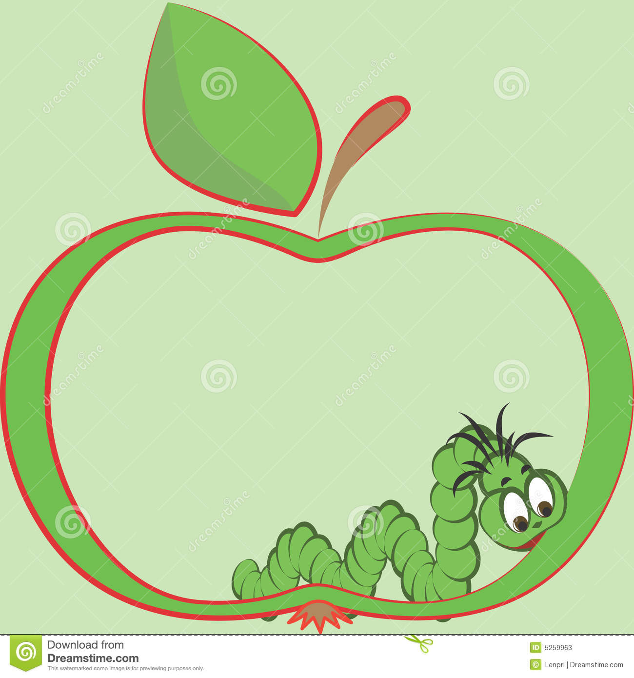Apple And Worm Stock Photos - Image: 5259963