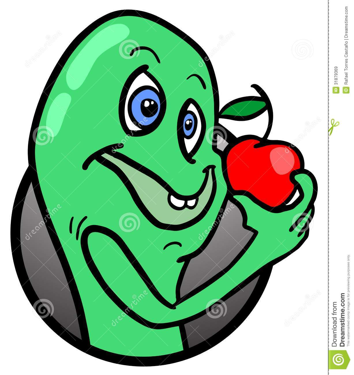Apple And Worm Royalty Free Stock Images - Image: 31879369