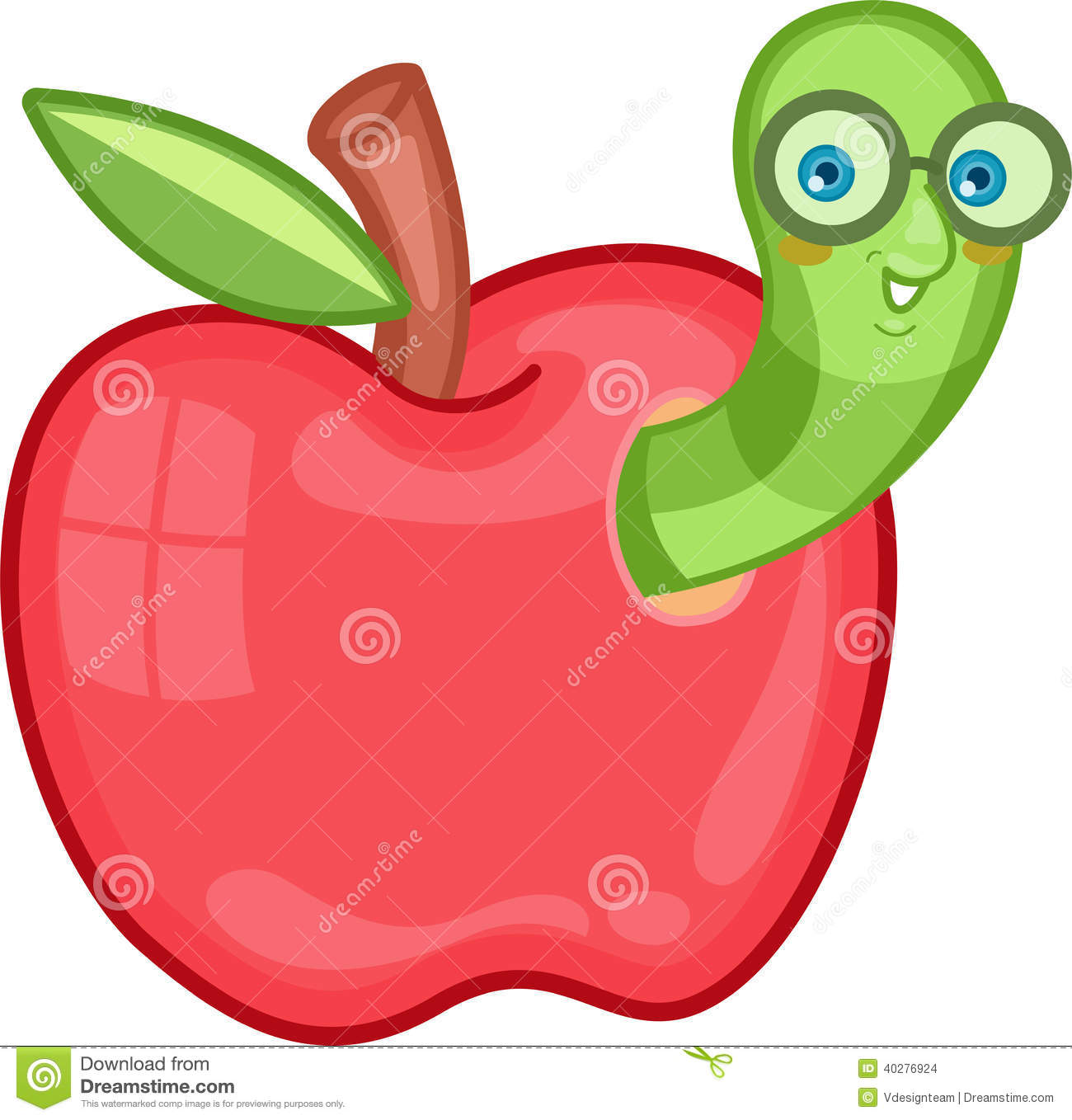clipart apple worm - photo #30