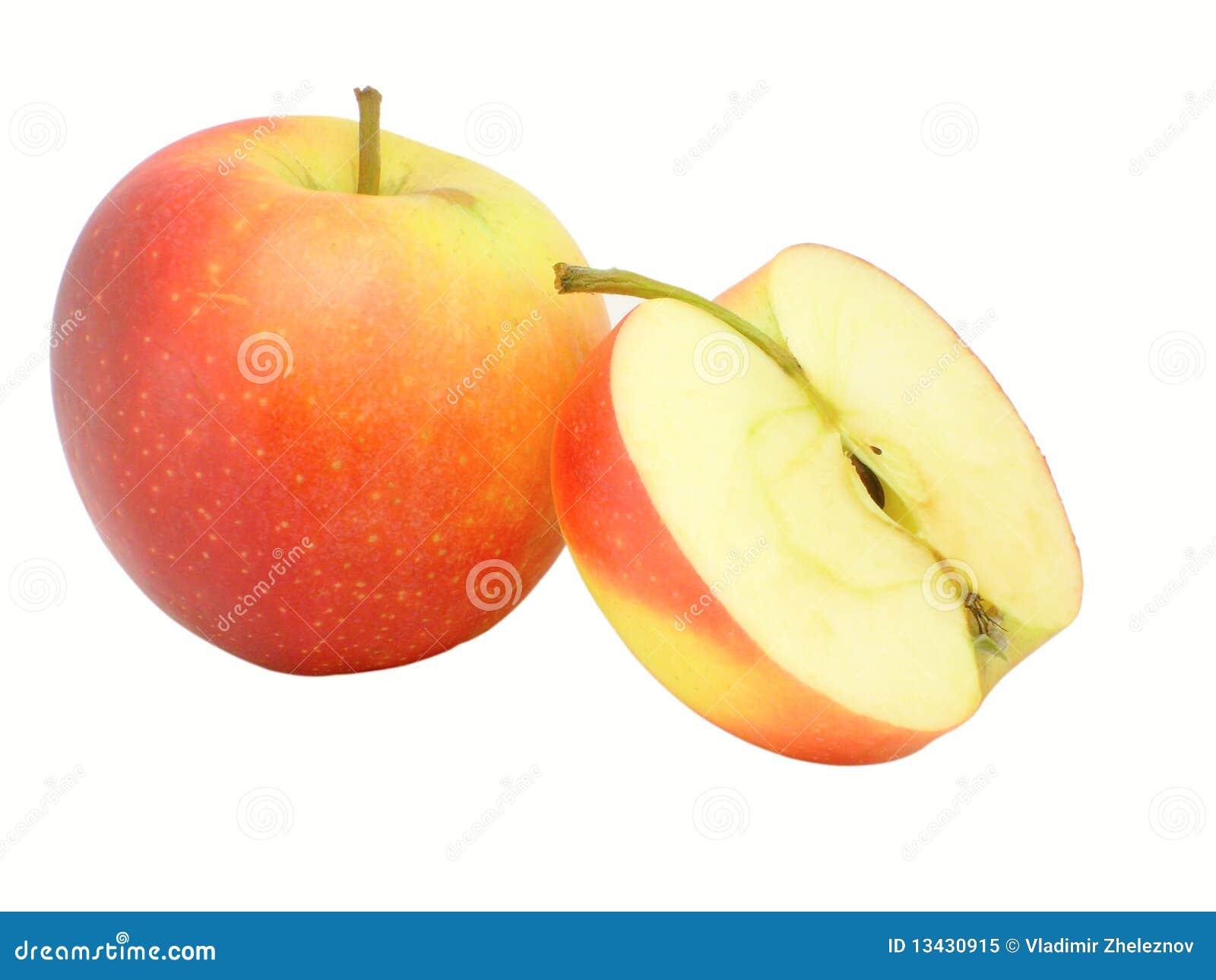 Apple y mitad de la manzana