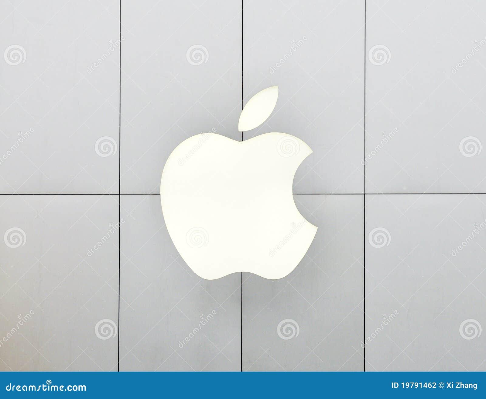 Apple-Zeichenneonleuchte