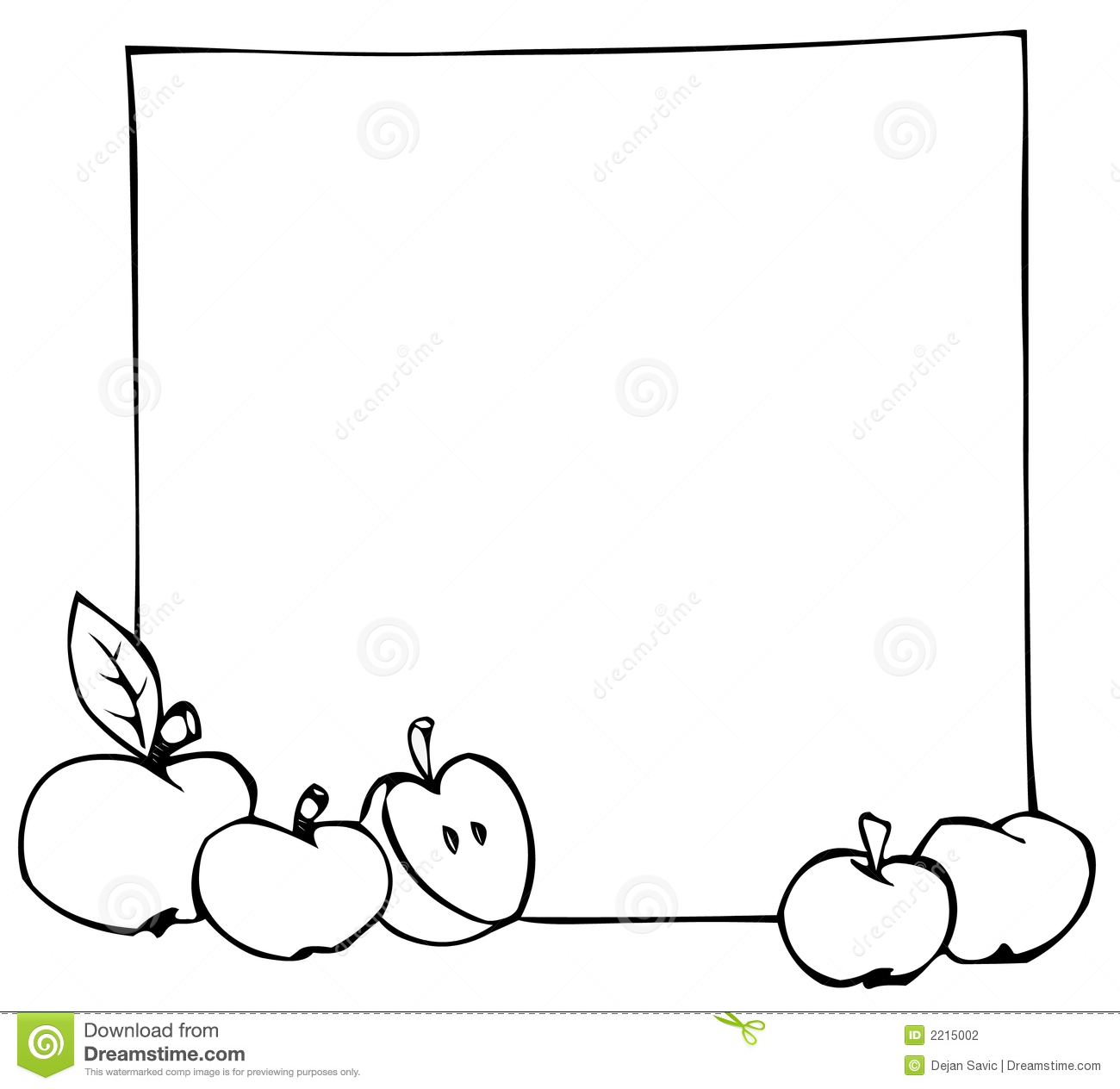 Apples and banner