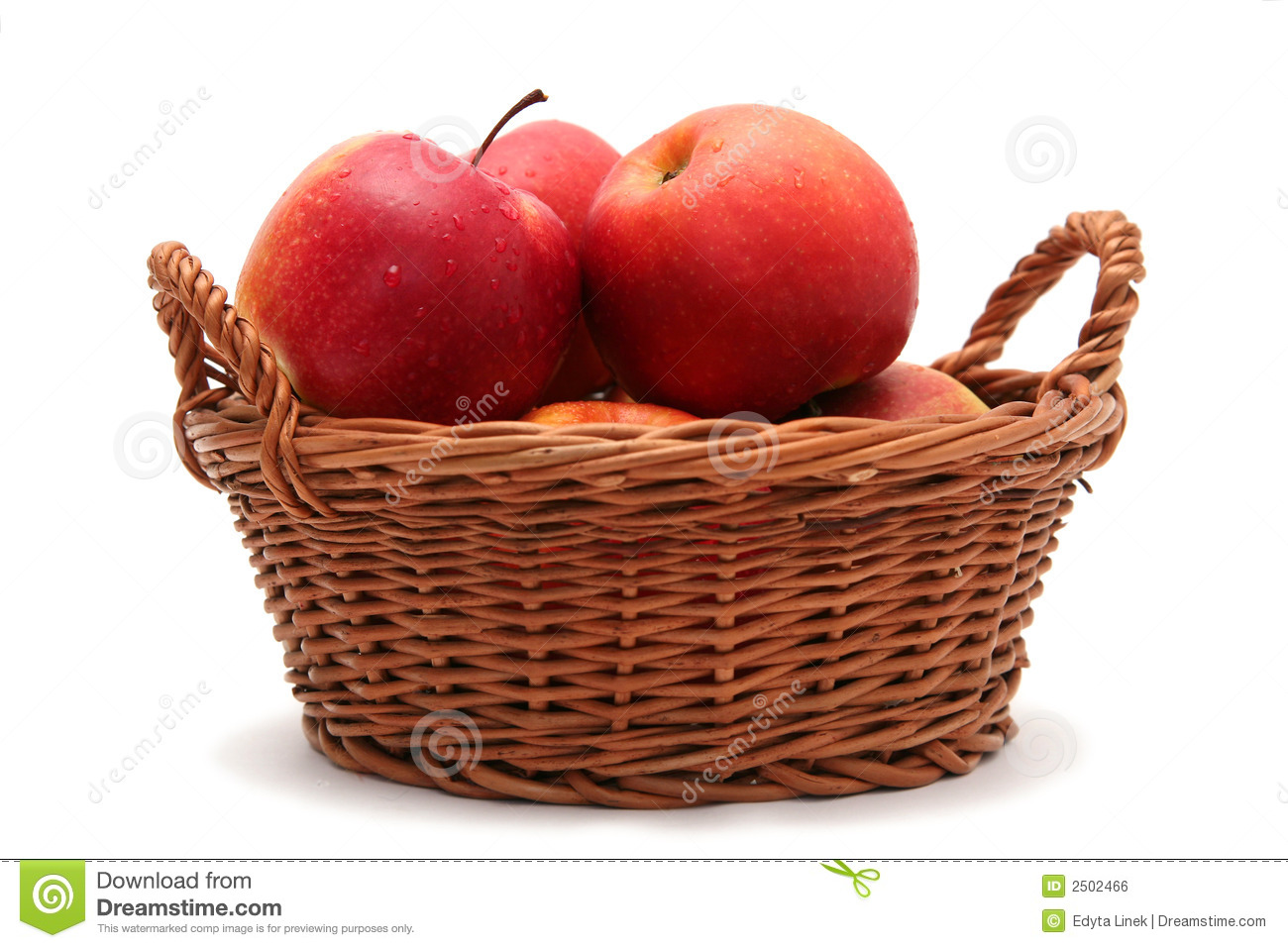 apples in basket royalty free stock image image 2502466