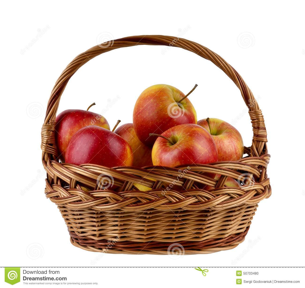 Apples in the basket stock photo. Image of apple, full ...
