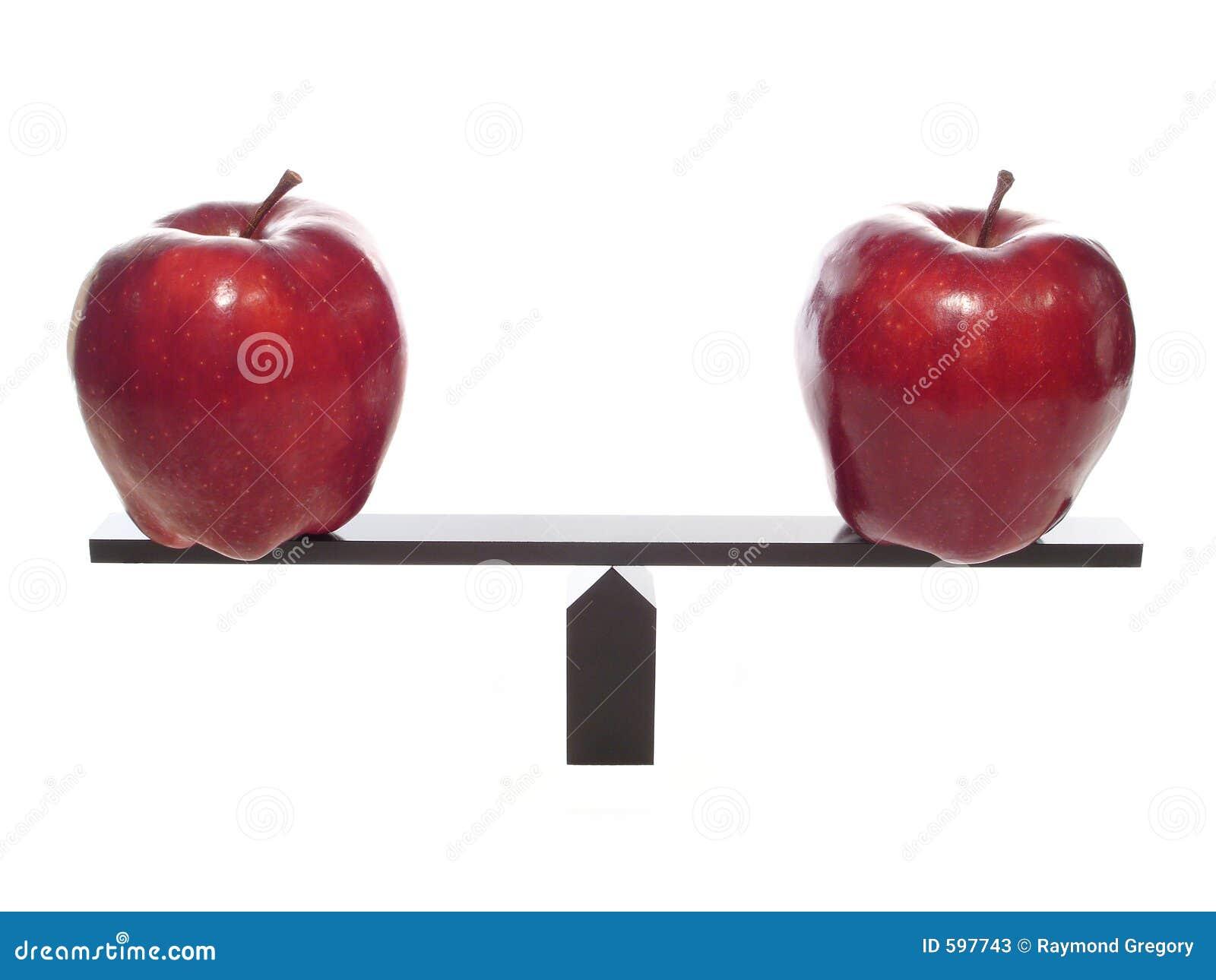 Apples comparing metaphore to