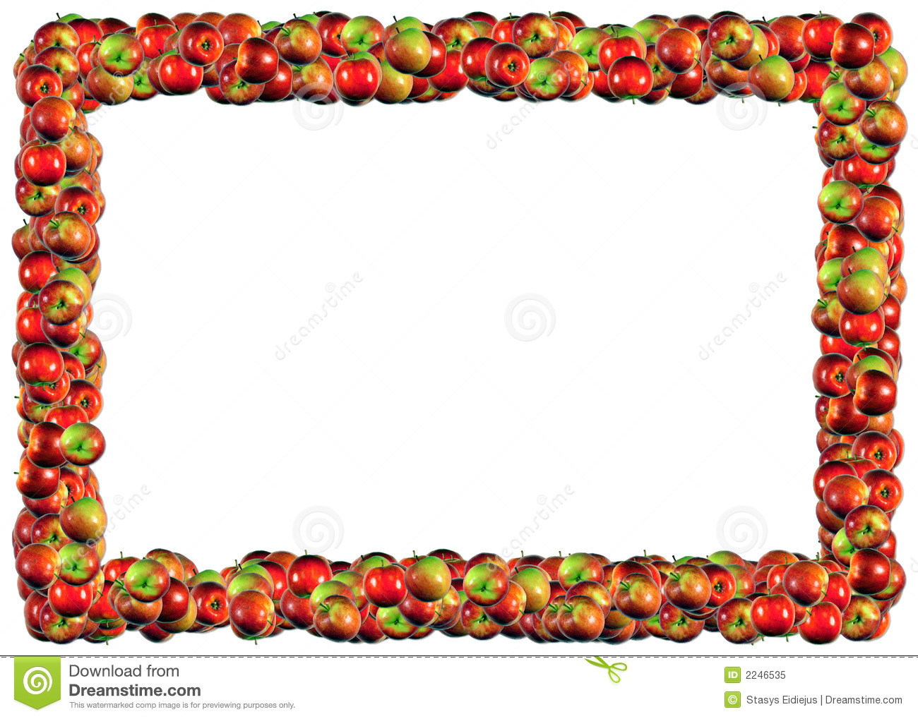Apples Frame Royalty Free Stock Photo - Image: 2246535