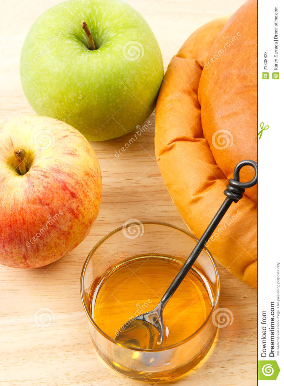 Apples and Honey and Challah Bread are traditional symbols shared at ...
