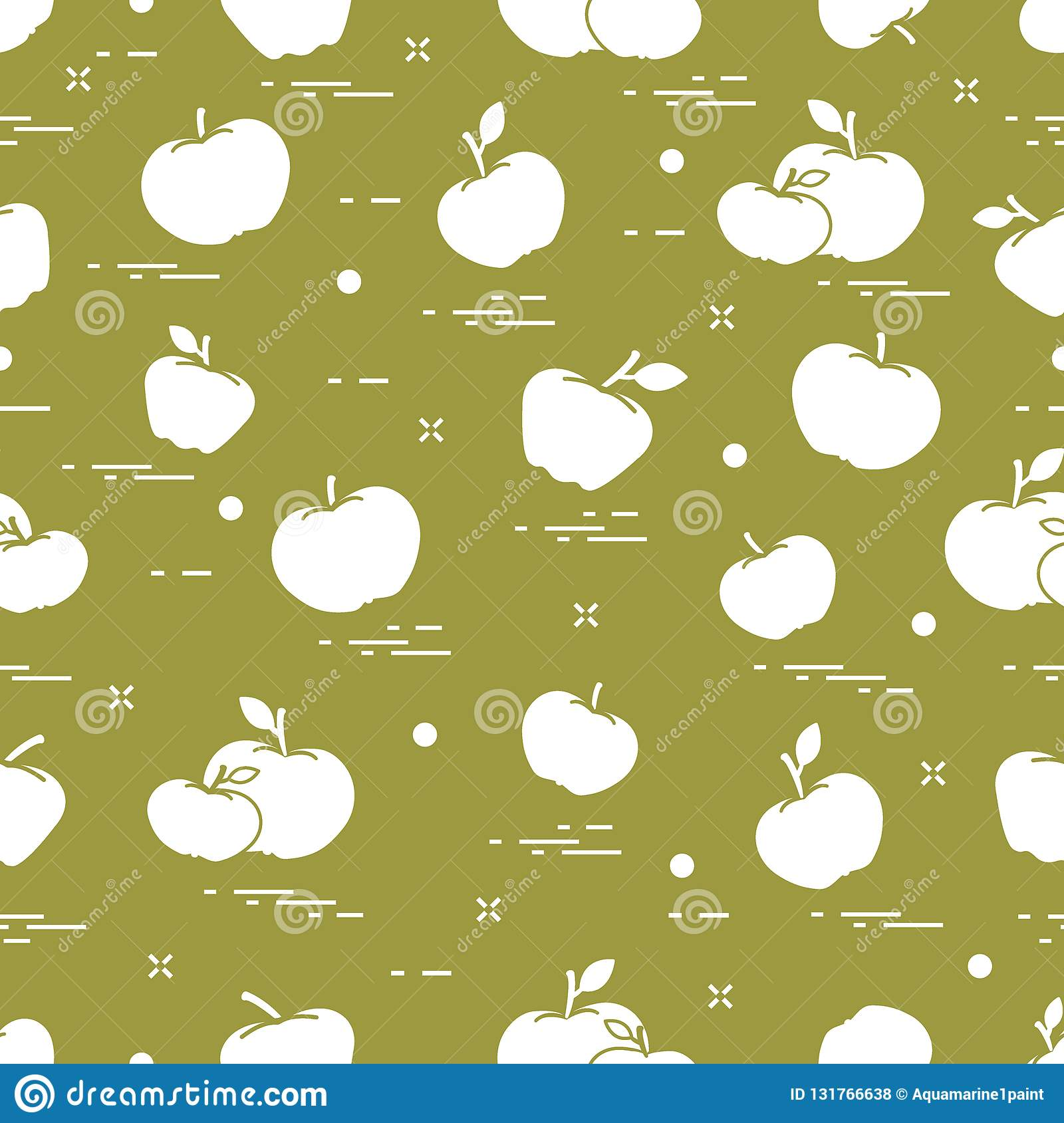 Apples juicy fruit. Seamless pattern. Design for announcement, advertisement, banner or print