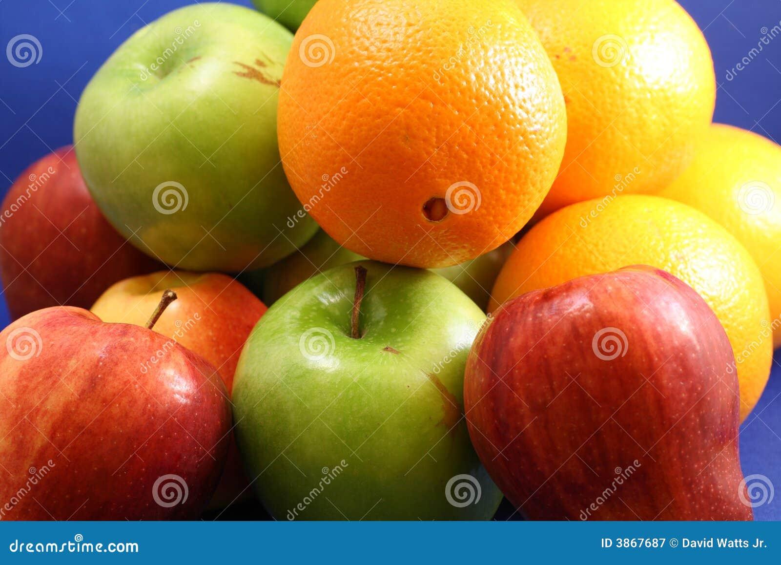 Download Apples & Oranges stock image. Image of healthy, citrus - 3867687