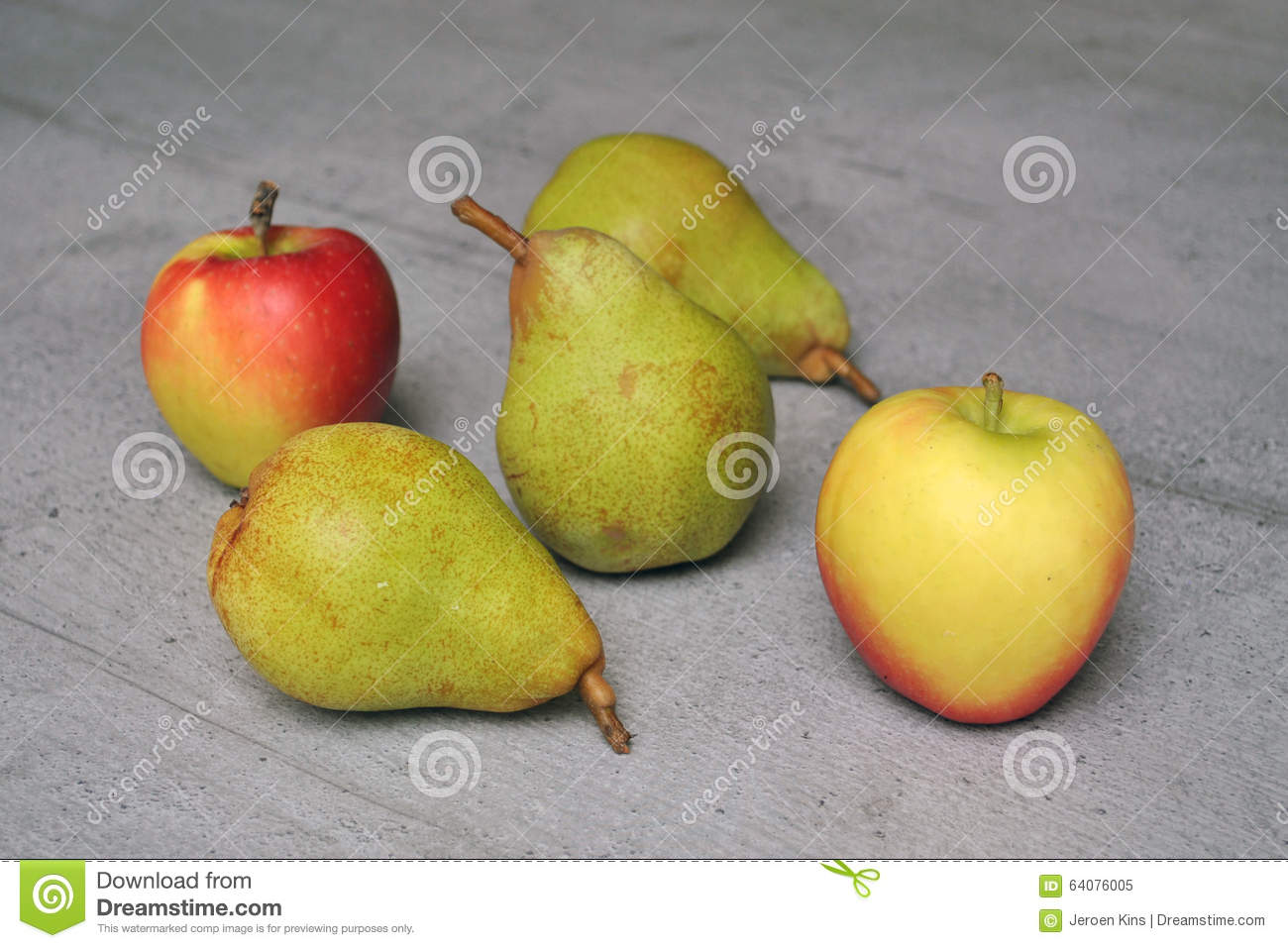 Apples And Pears Stock Photo Image 64076005