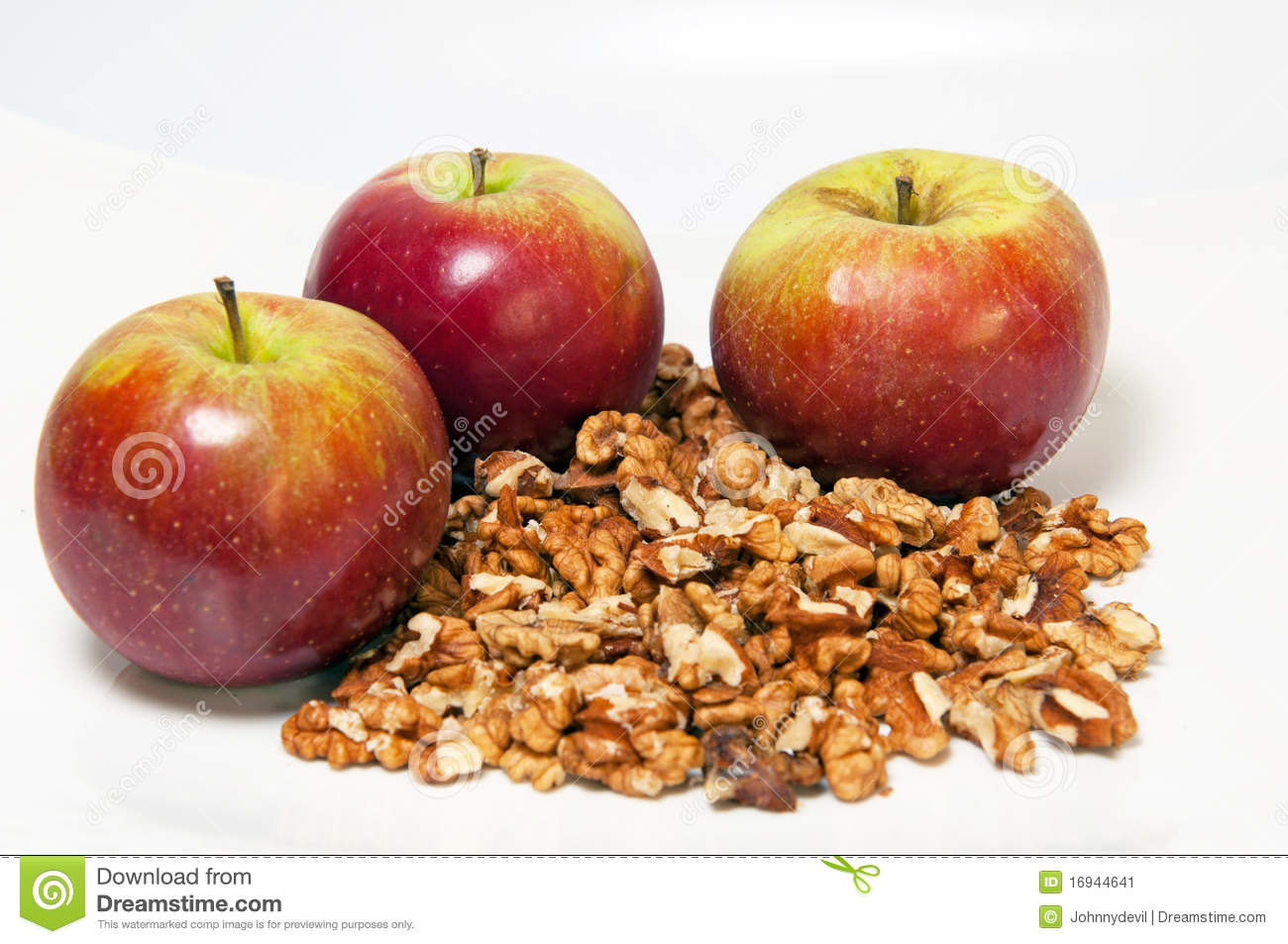 Apples And Walnuts Stock Image - Image: 16944641