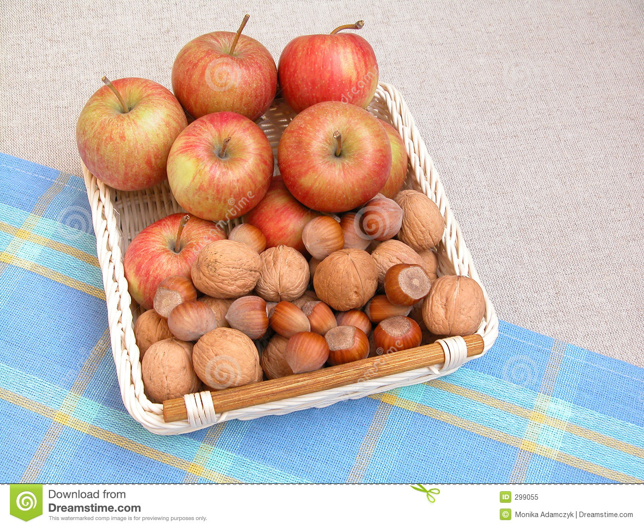 Apples And Walnuts Royalty Free Stock Photo - Image: 299055