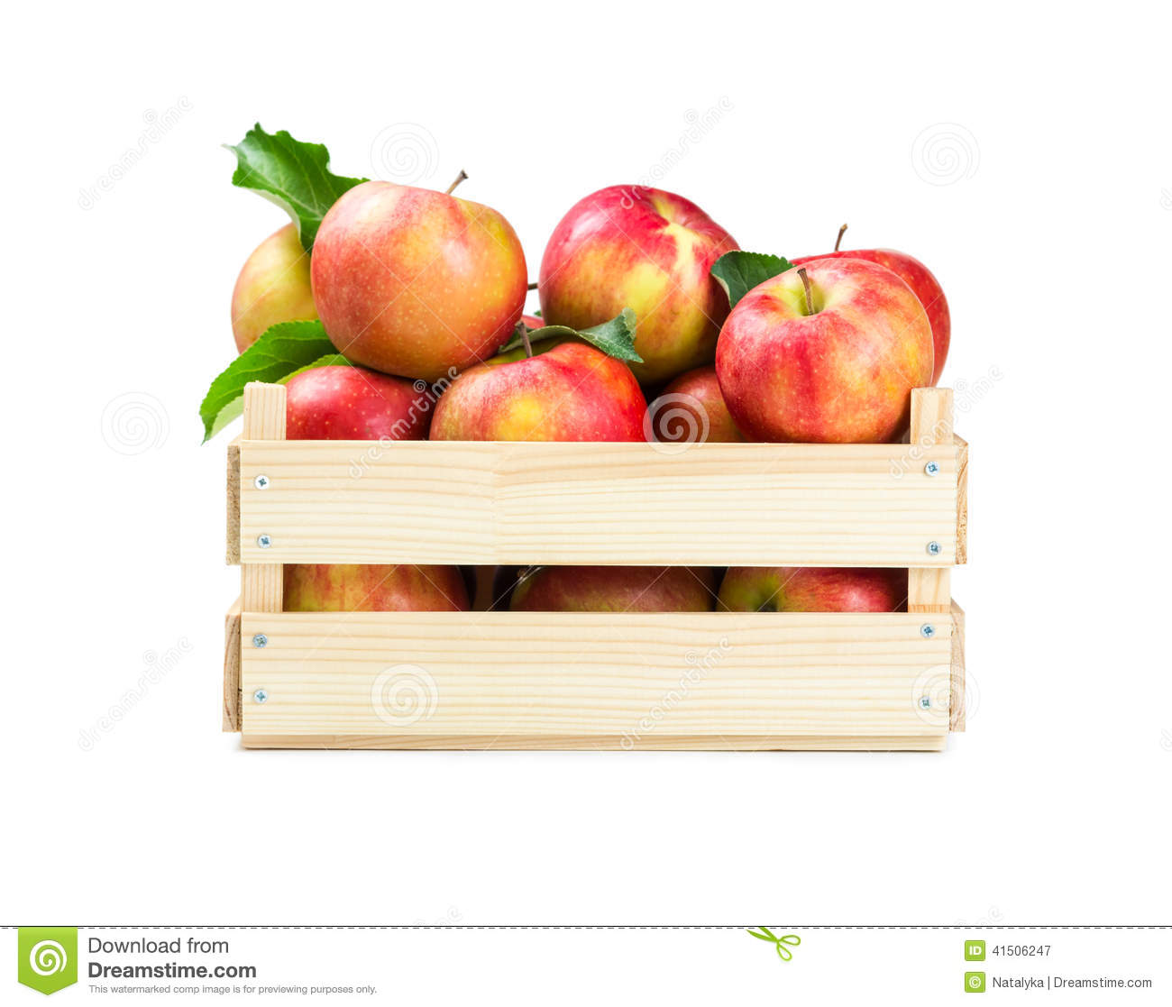 Apples in a wooden box stock image image of diet snack for How to make apple crates