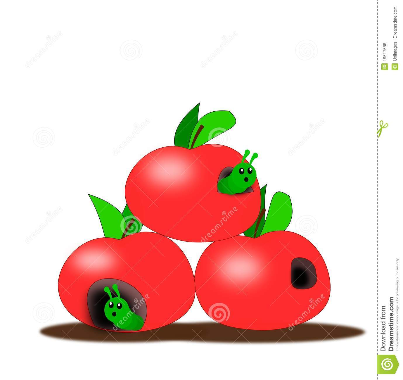 Apples With Worms Royalty Free Stock Photos - Image: 19517588
