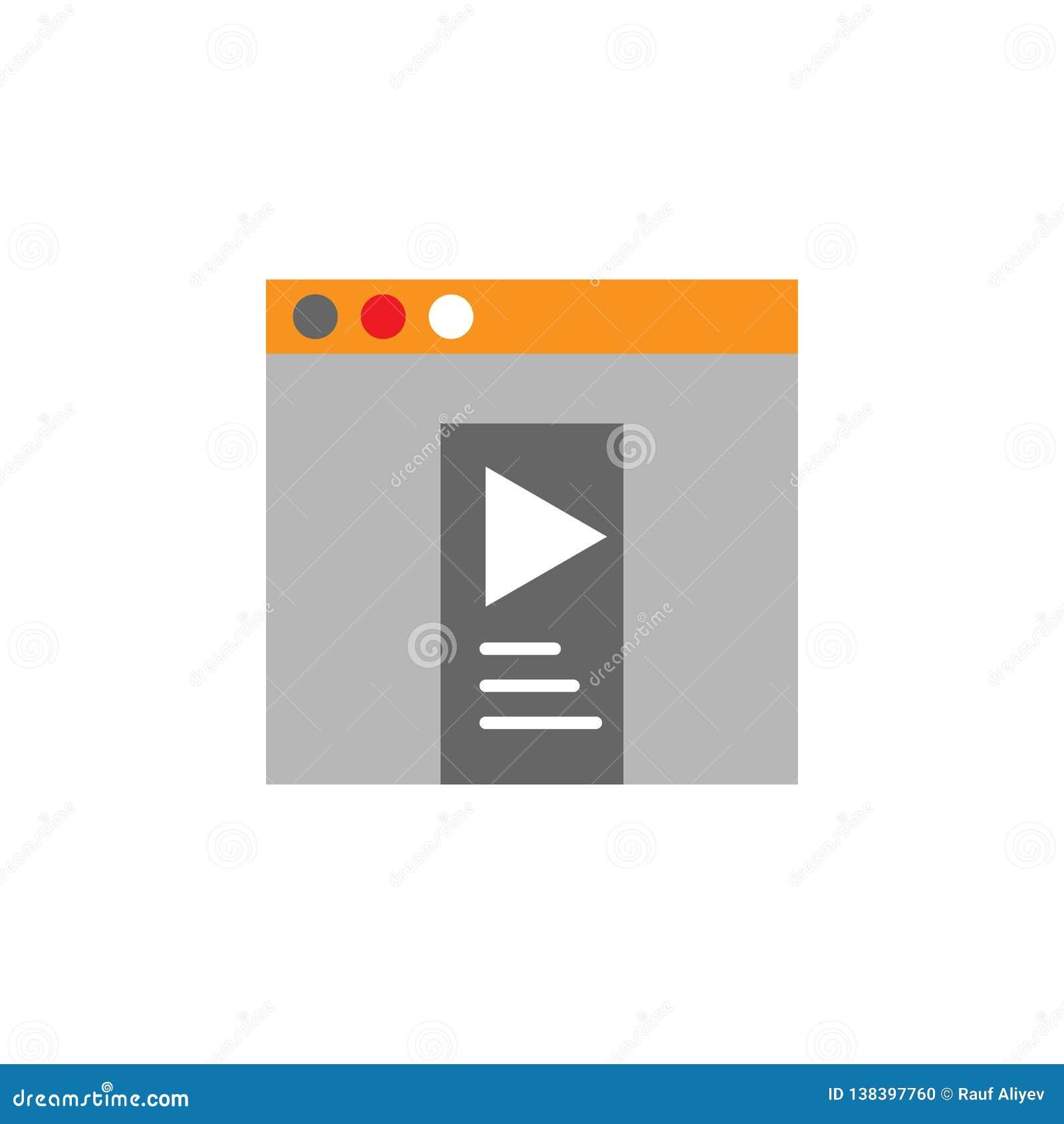 Appli, icône visuelle Élément d icône de Desing de Web pour des applis mobiles de concept et de Web L appli détaillé, l icône vis