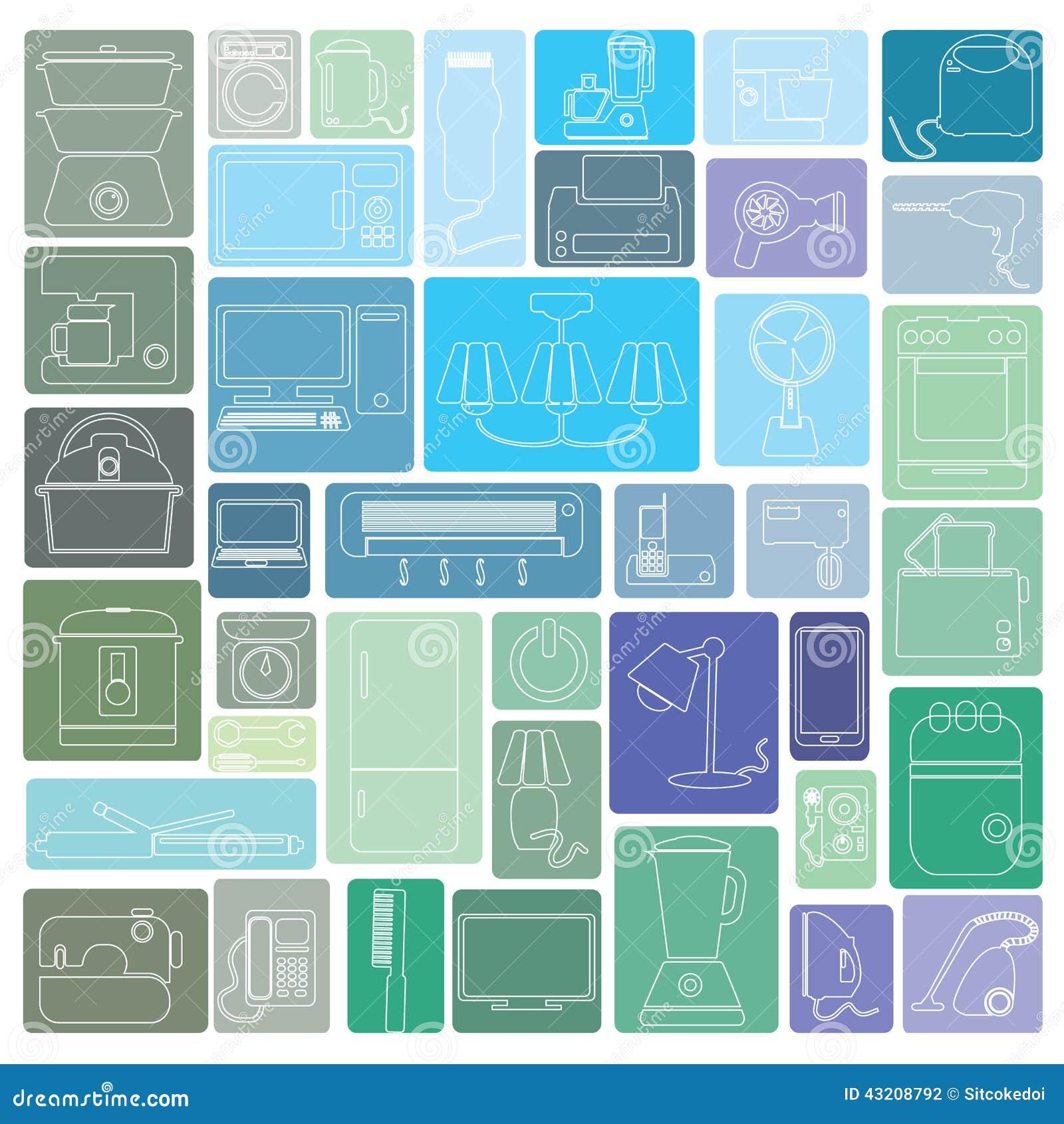 Download Appliance3 vektor illustrationer. Illustration av järn - 43208792