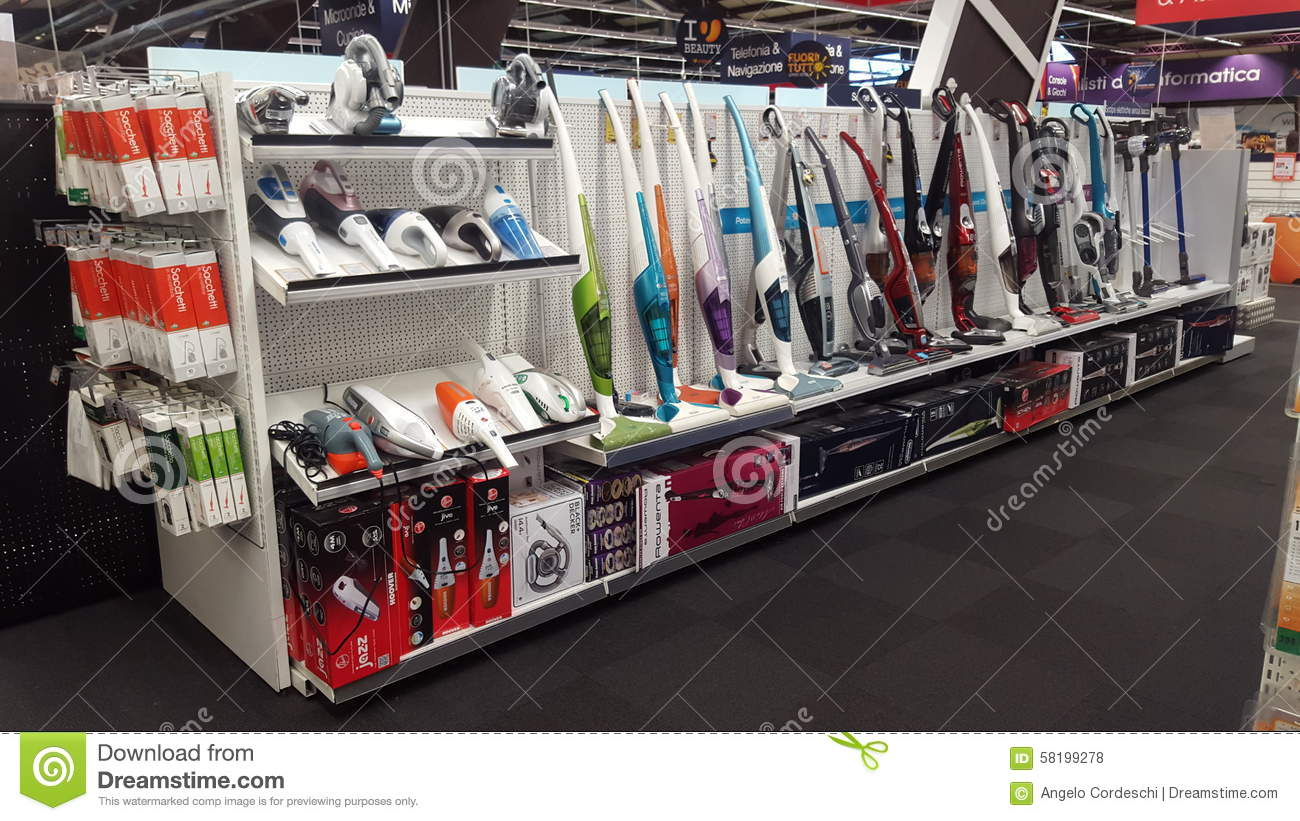 Appliance Store Sales Of Vacuum Cleaners Editorial Stock