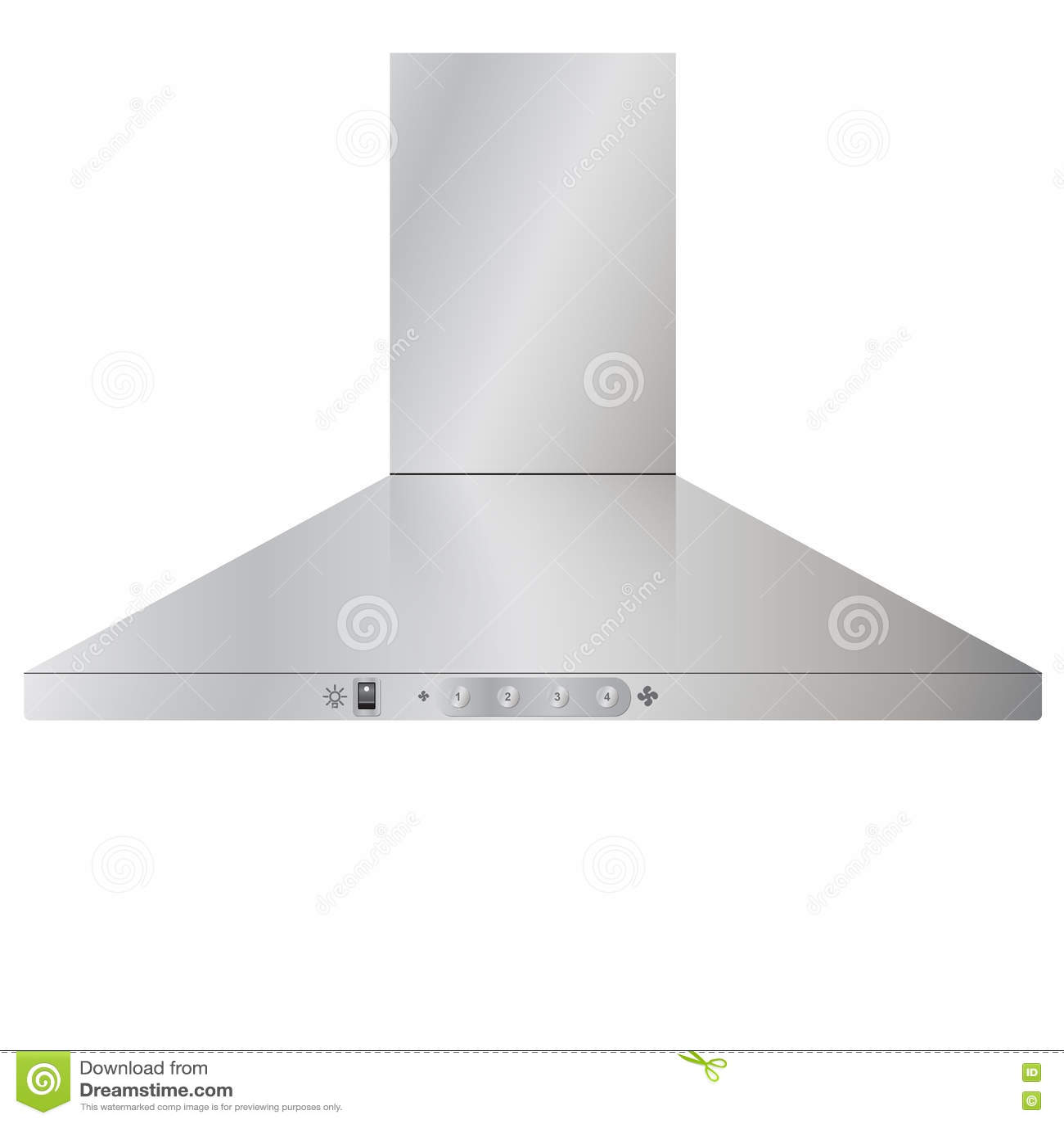 Appliances. Modern Kitchen Cooker Hood. Stock Vector - Illustration ...