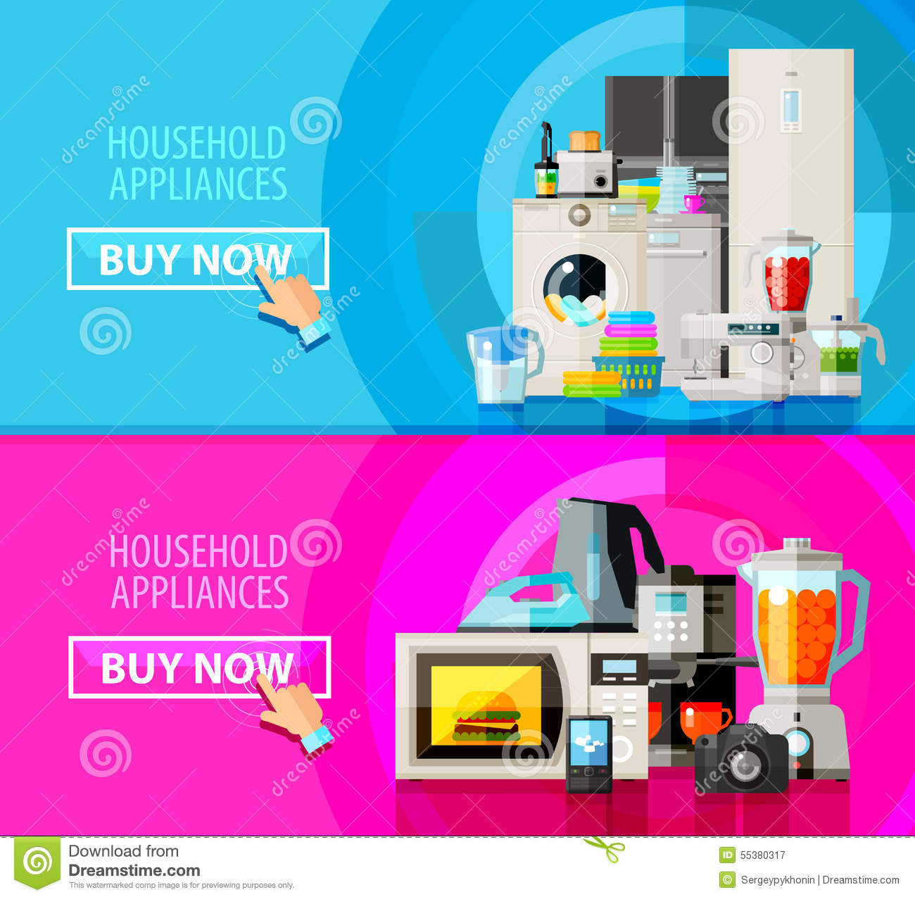 Appliances vector logo design template electrical stock for Household appliances design