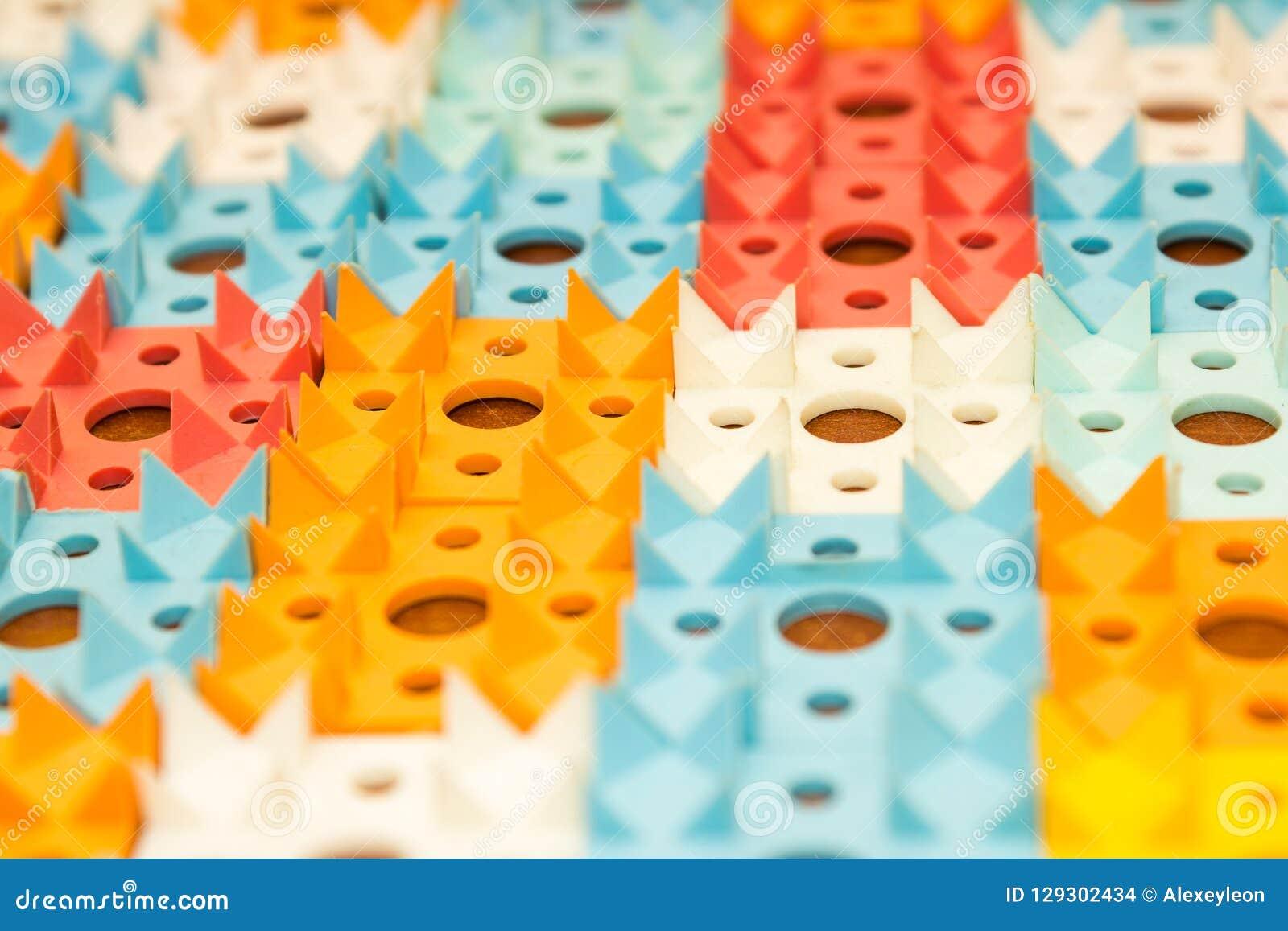 Applicateur de Kuznetsov - aiguilles multicolores en gros plan