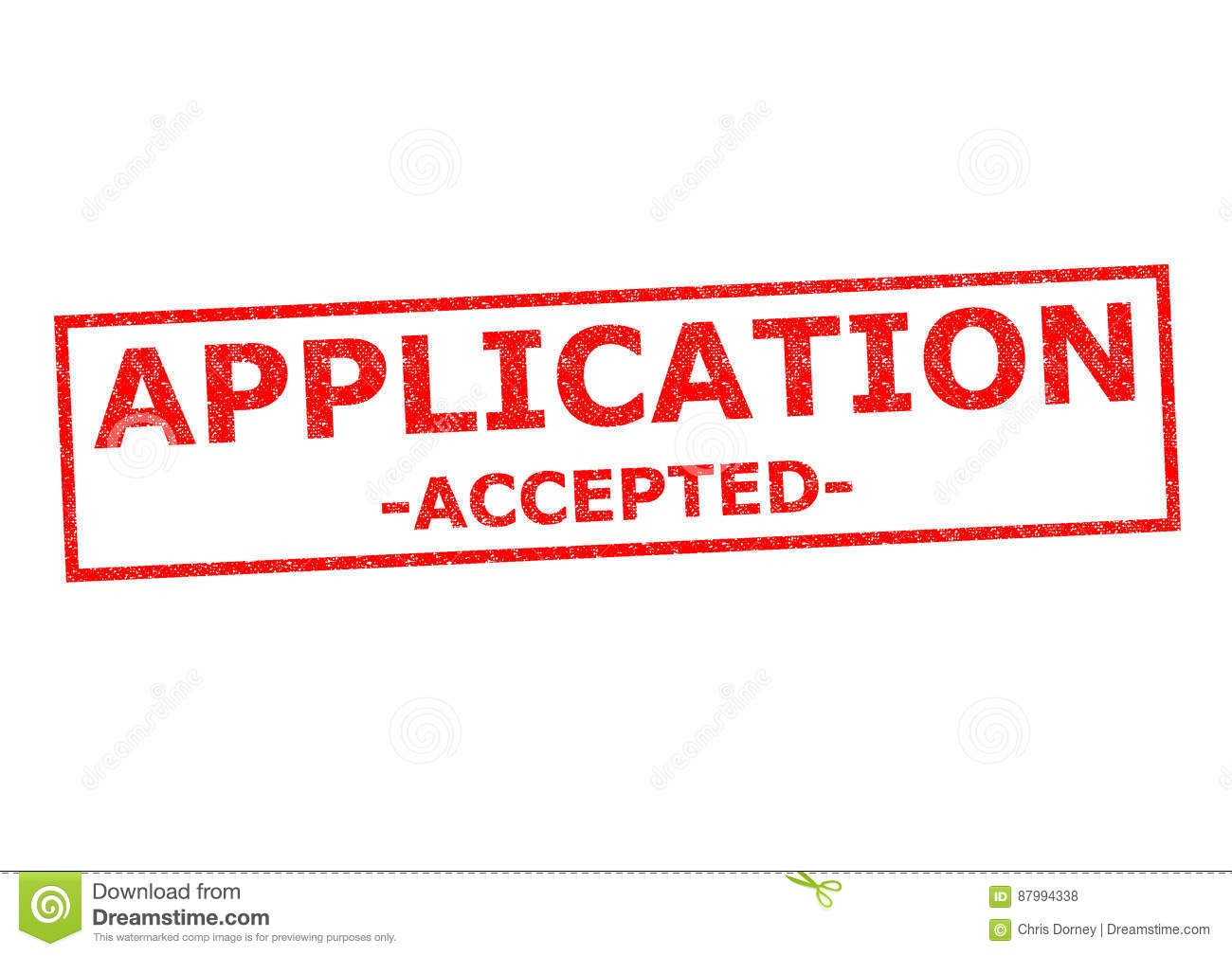 APPLICATION ACCEPTED