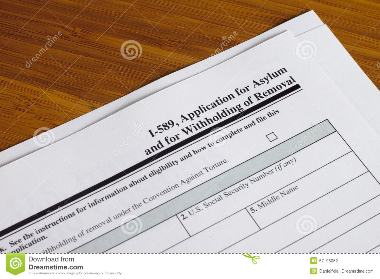 Application For Asylum Stock Photo Image Of Home Horizontal 57196062