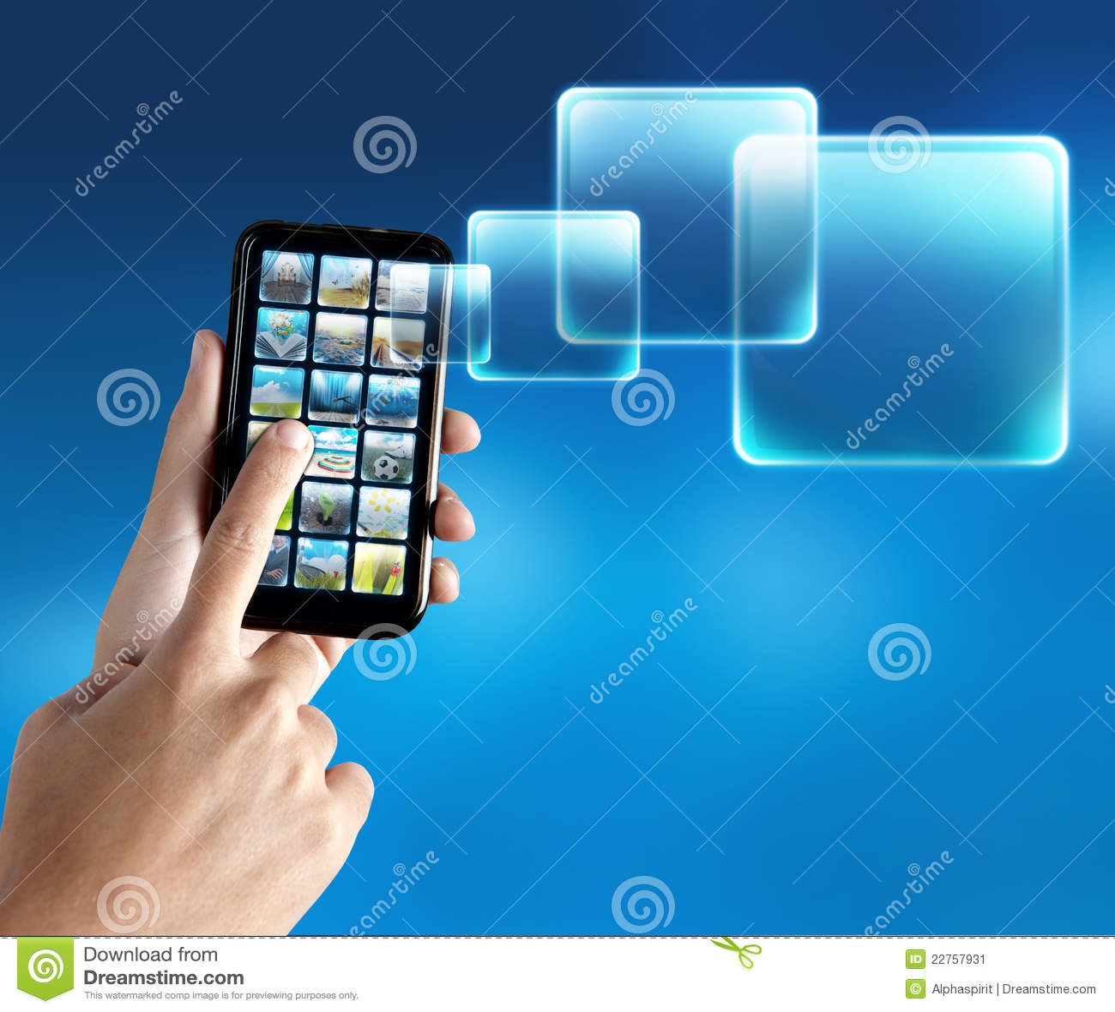Application de téléphone portable