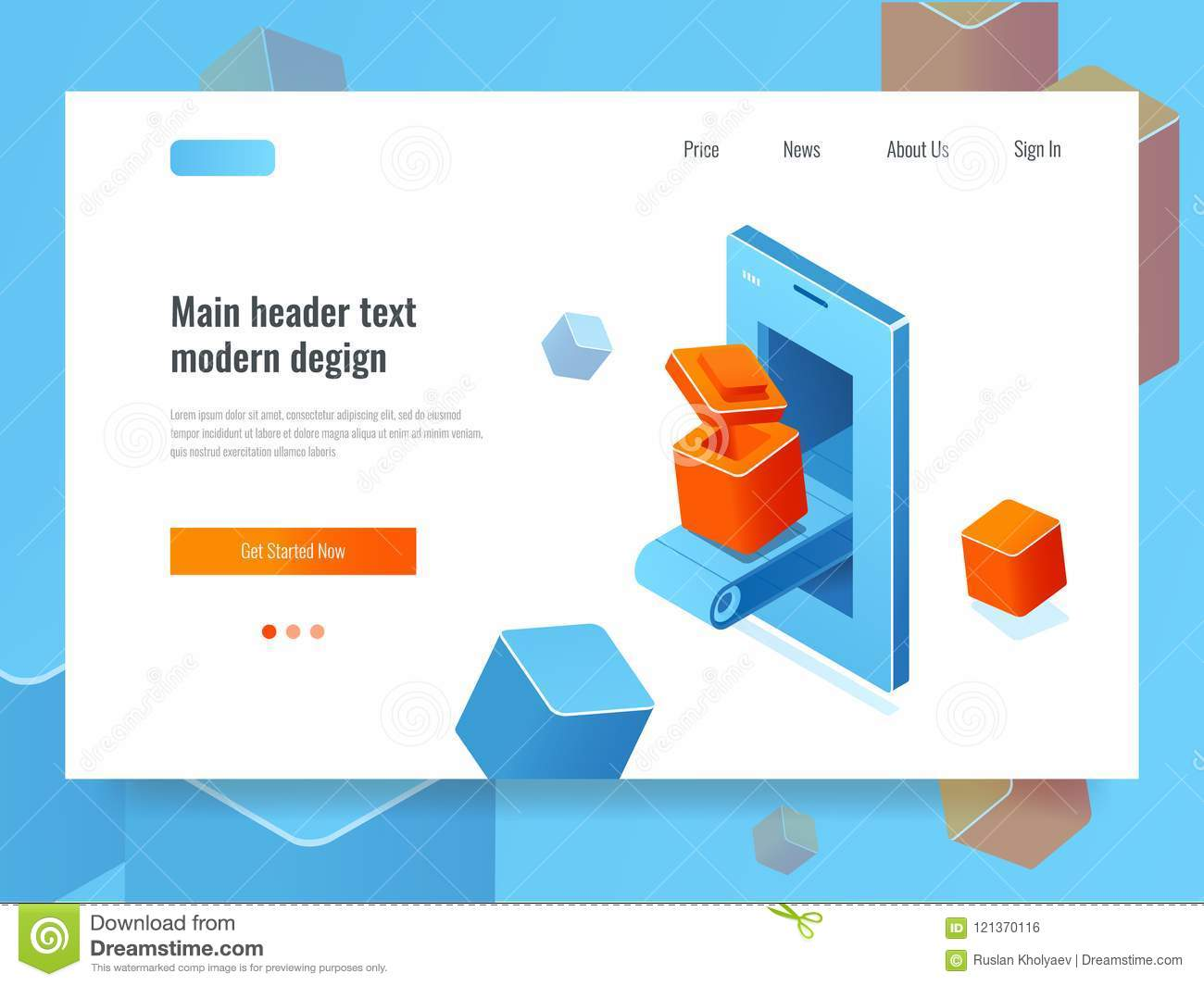 Application Development, Banner With Mobile Phone And