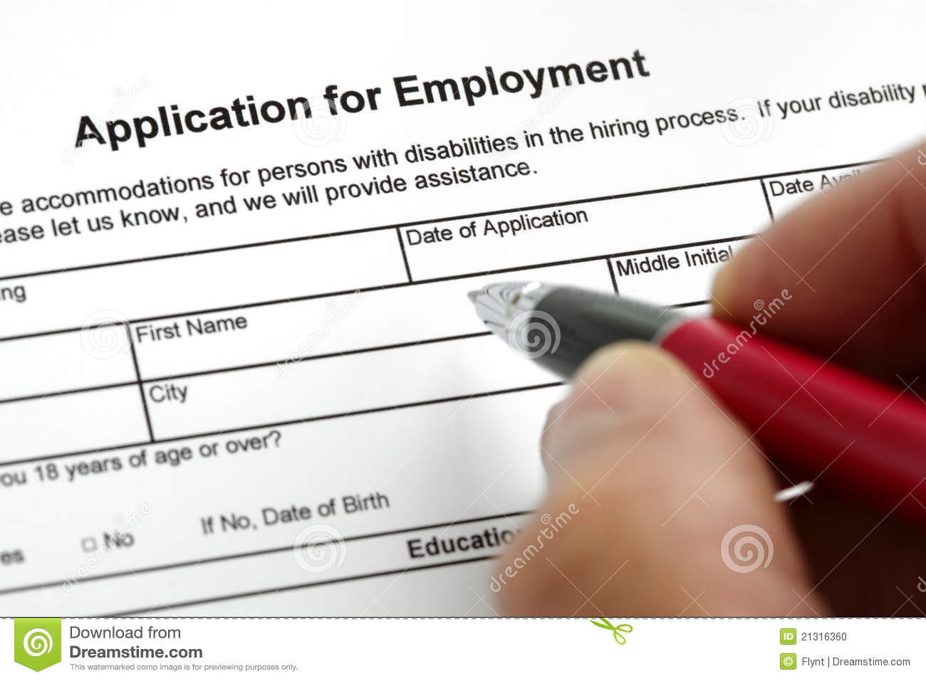 Application for employment stock photo. Image of unemployment - 21316360