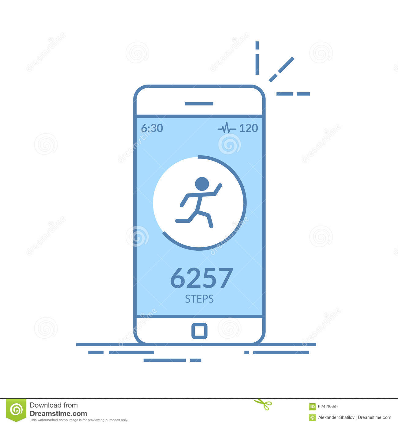 Application On The Mobile Phone To Track The Steps, The Pedometer