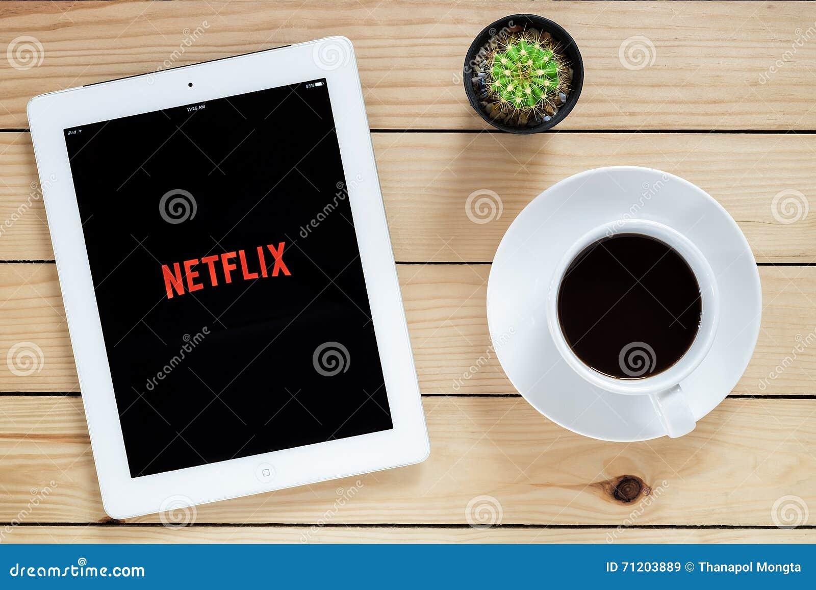 Application ouverte d IPad 4 Netflix