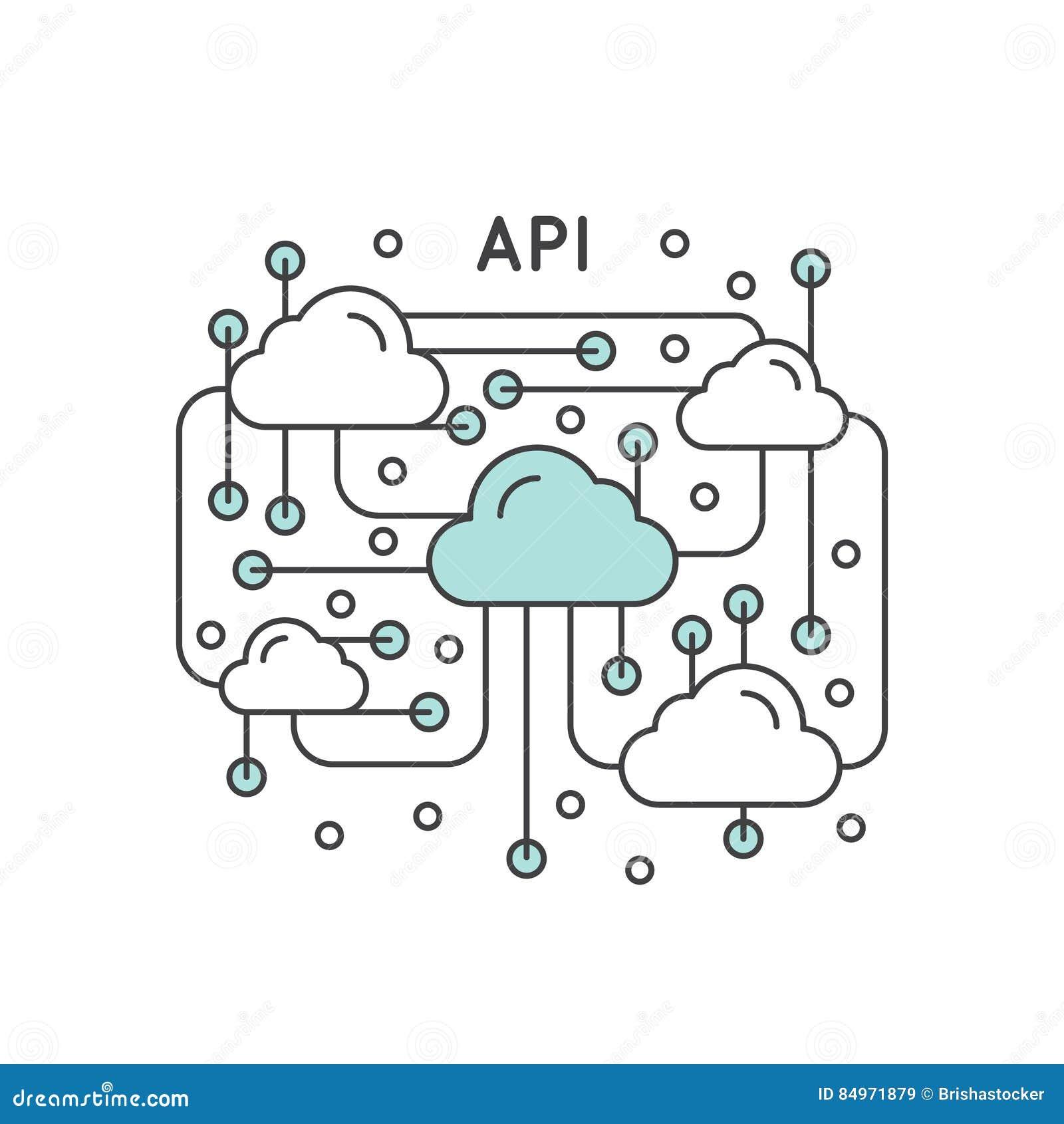 application programming interface api technology stock vector