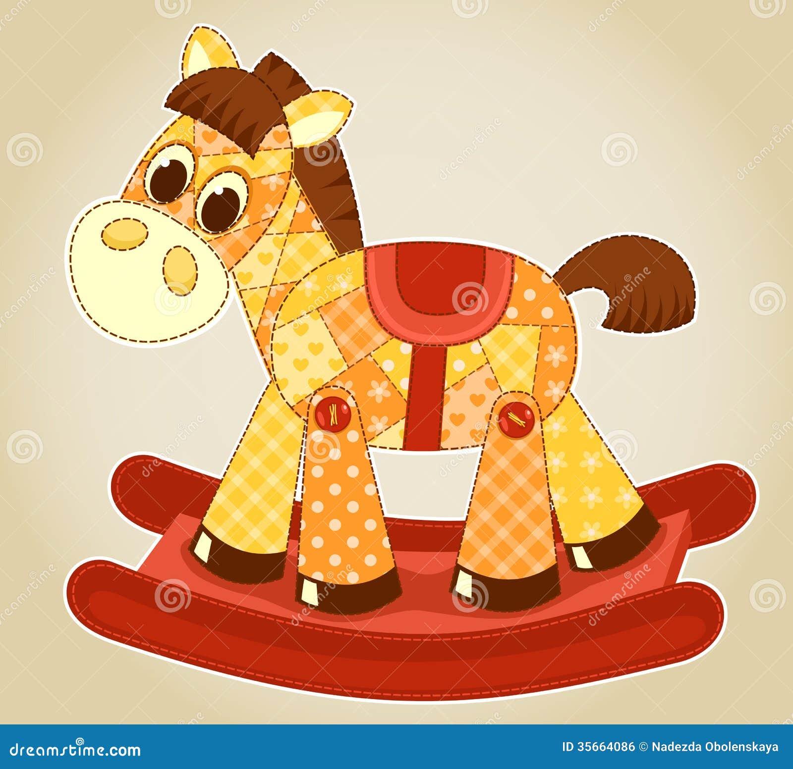 Application Rocking Horse Royalty Free Stock Image - Image: 35664086