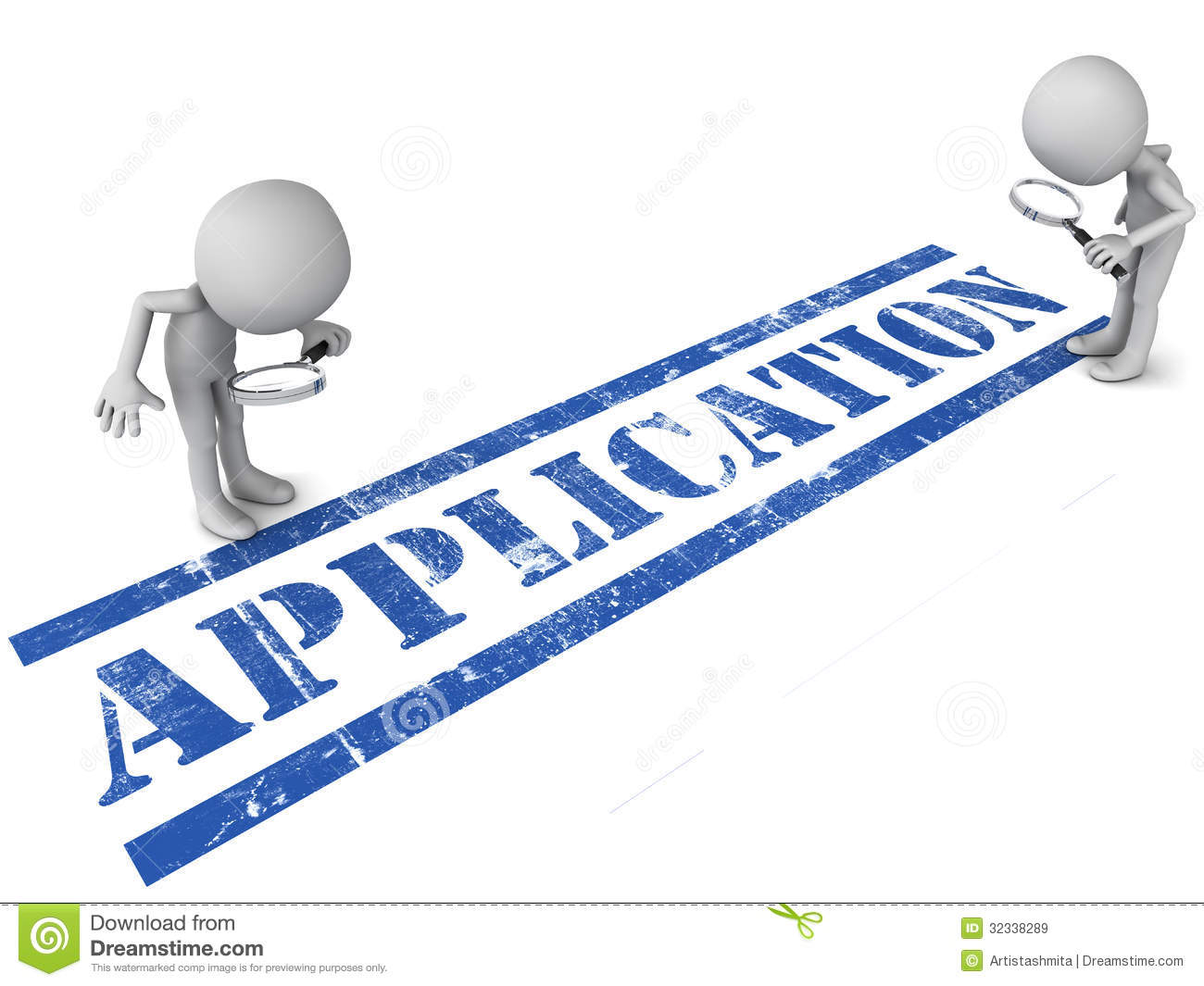 Application Under Review Royalty Free Stock Images - Image: 32338289