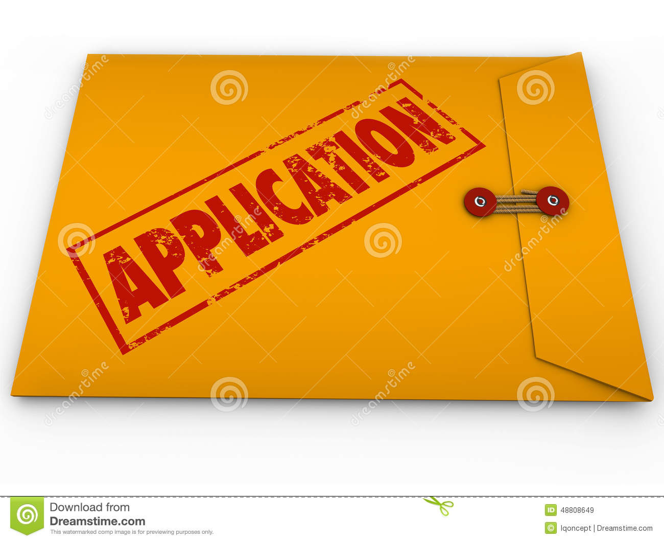 application yellow envelope submit apply job credit approval stock illustration