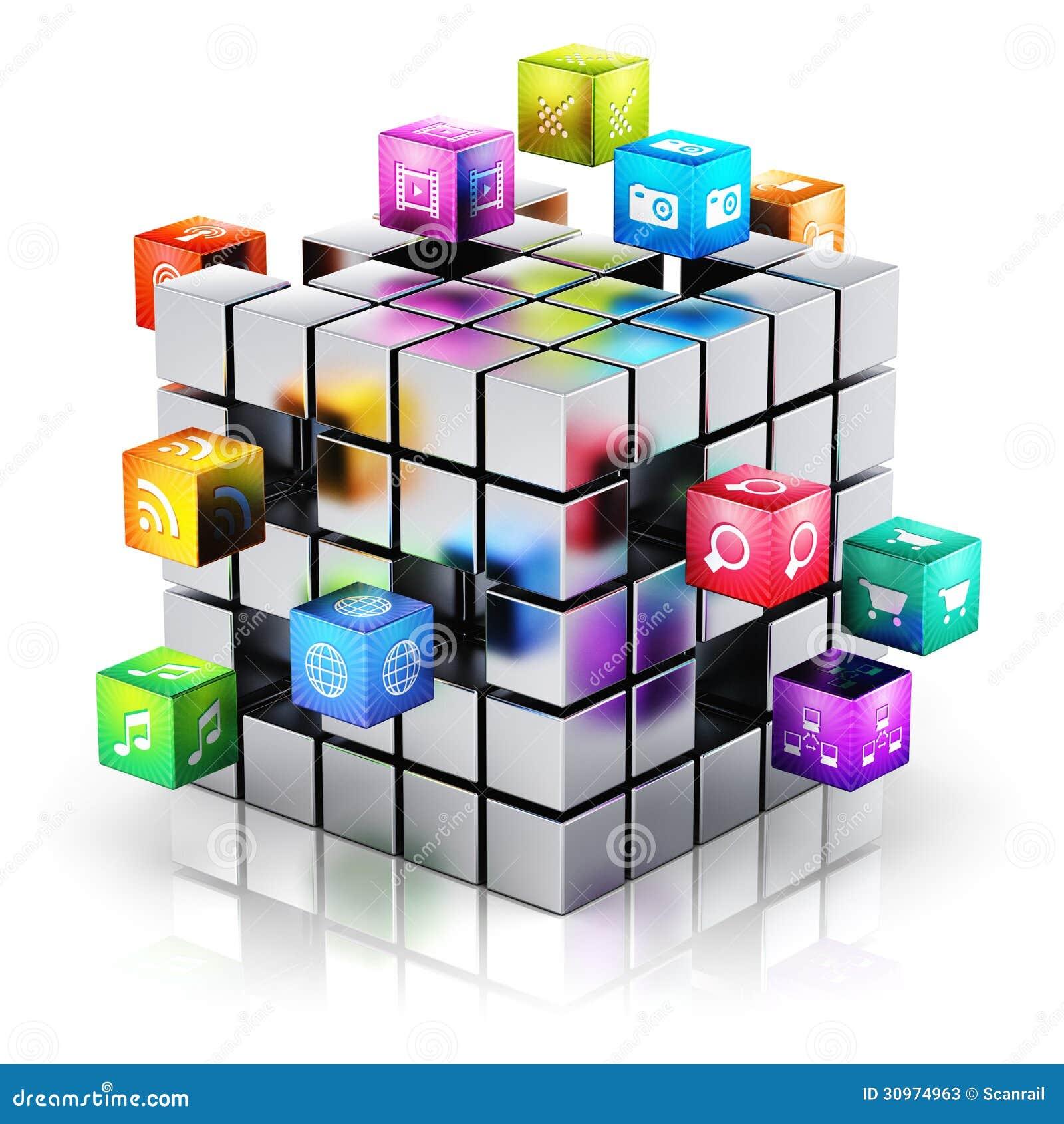Applications et concept mobiles de technologie de media