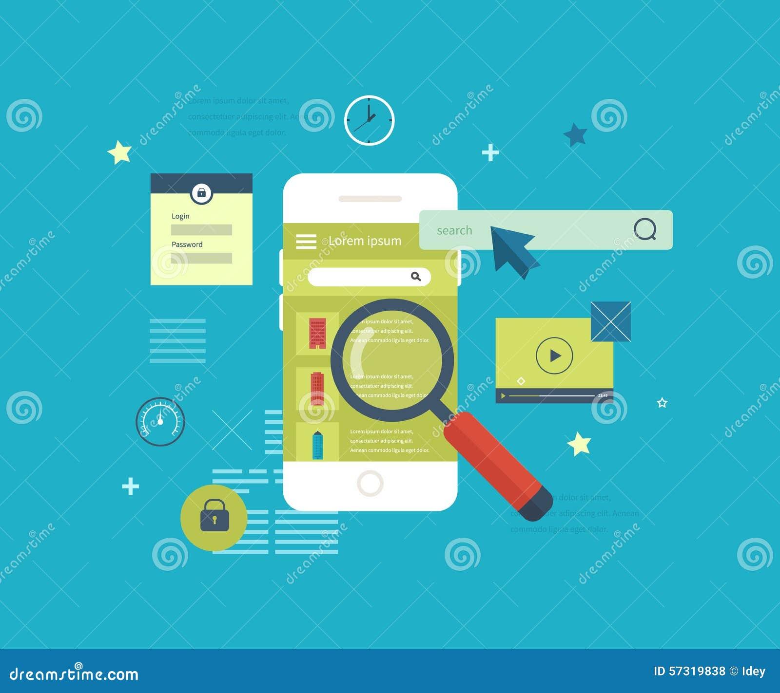 Applicazione mobile da cercare il bene immobile