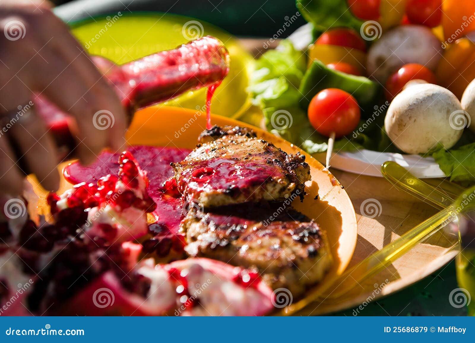 Applicera grillfestsås
