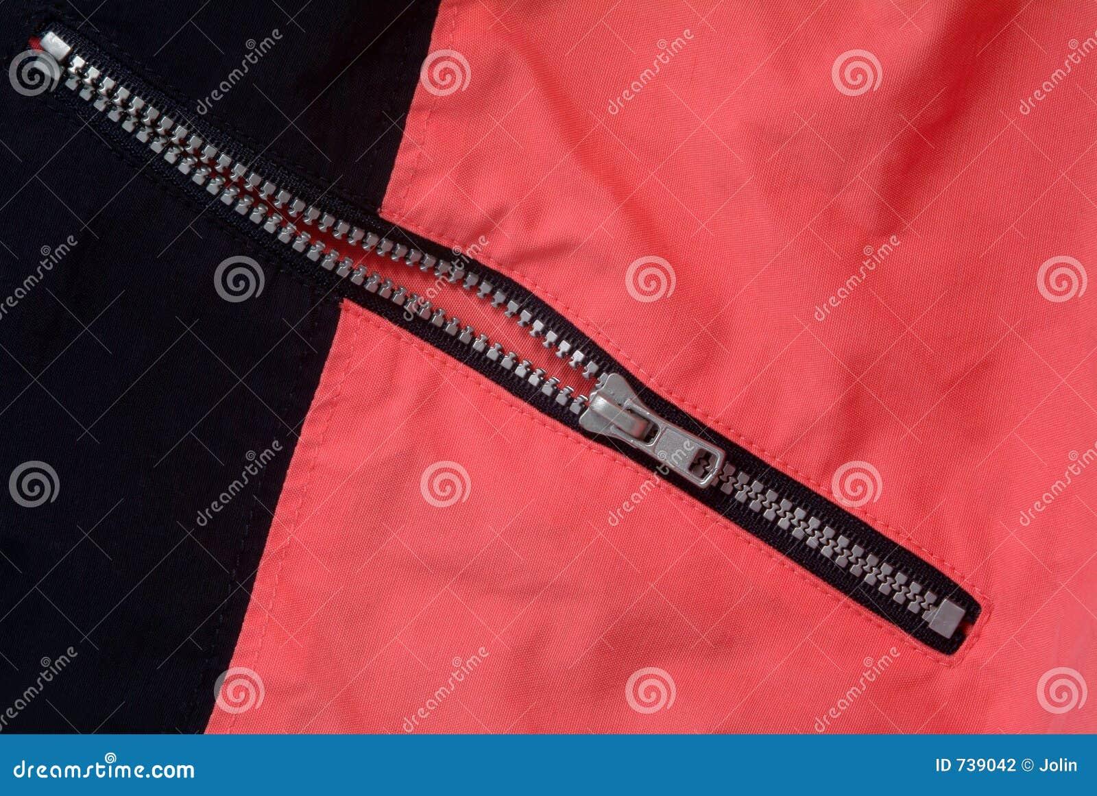 Applicerad kläderzipper