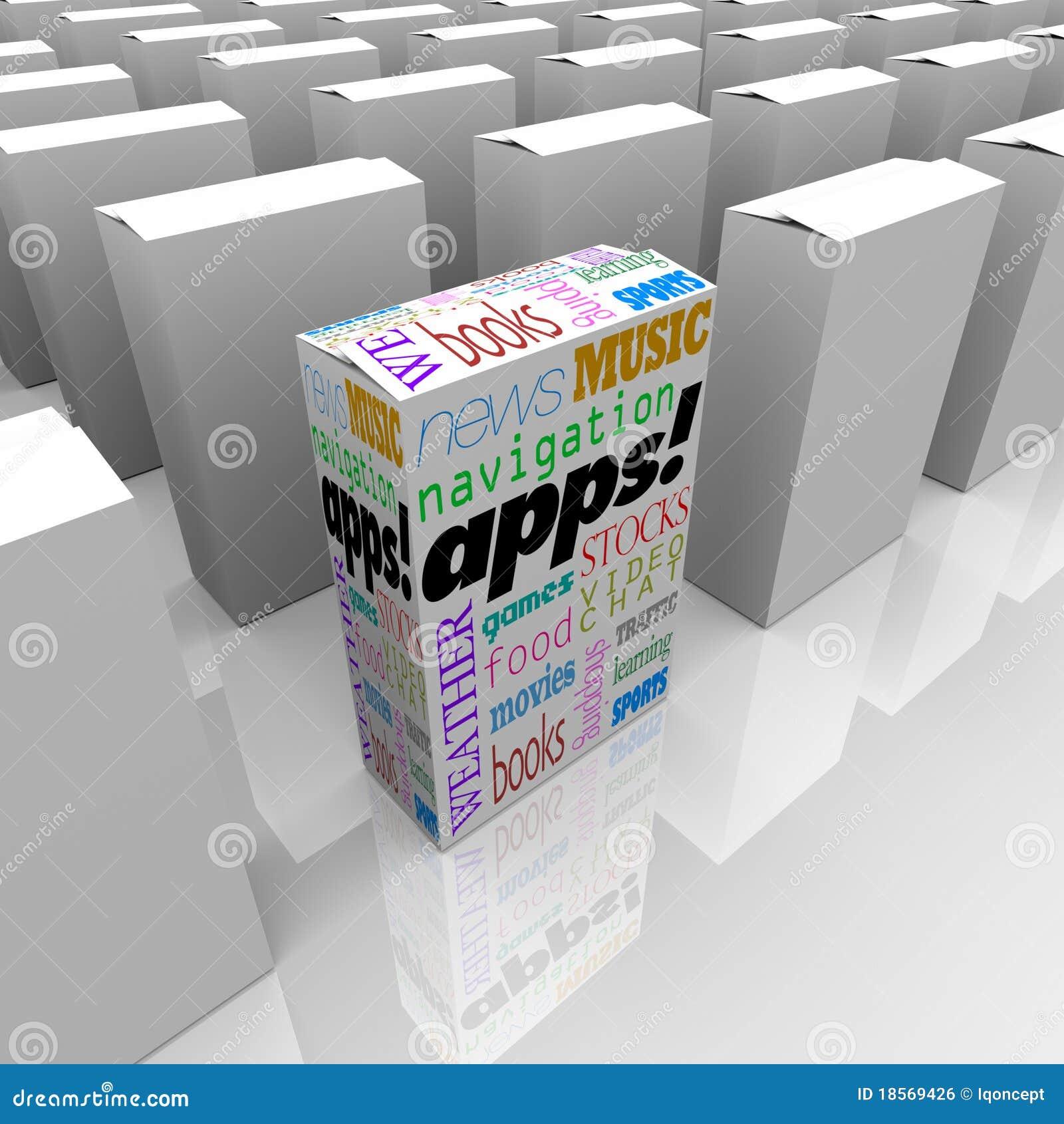 Applikationapps boxes många programvarulagret