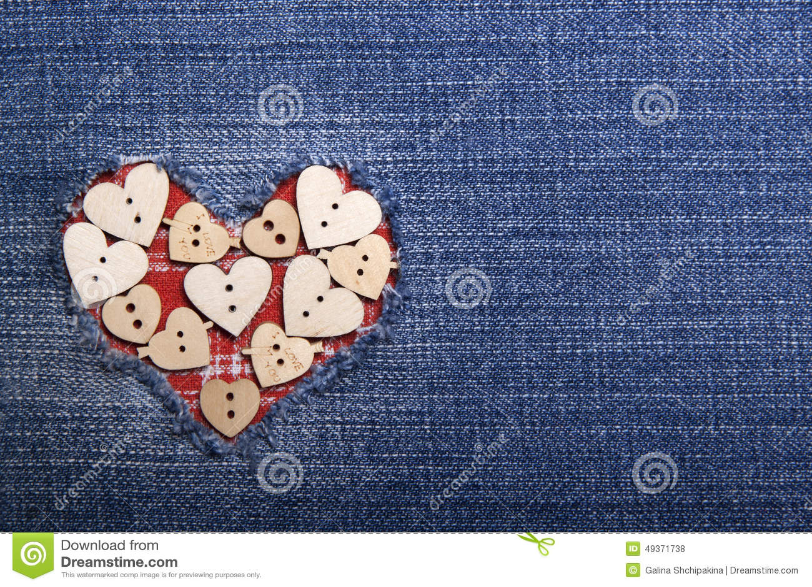 Applique del tessuto per il san valentino fotografia stock