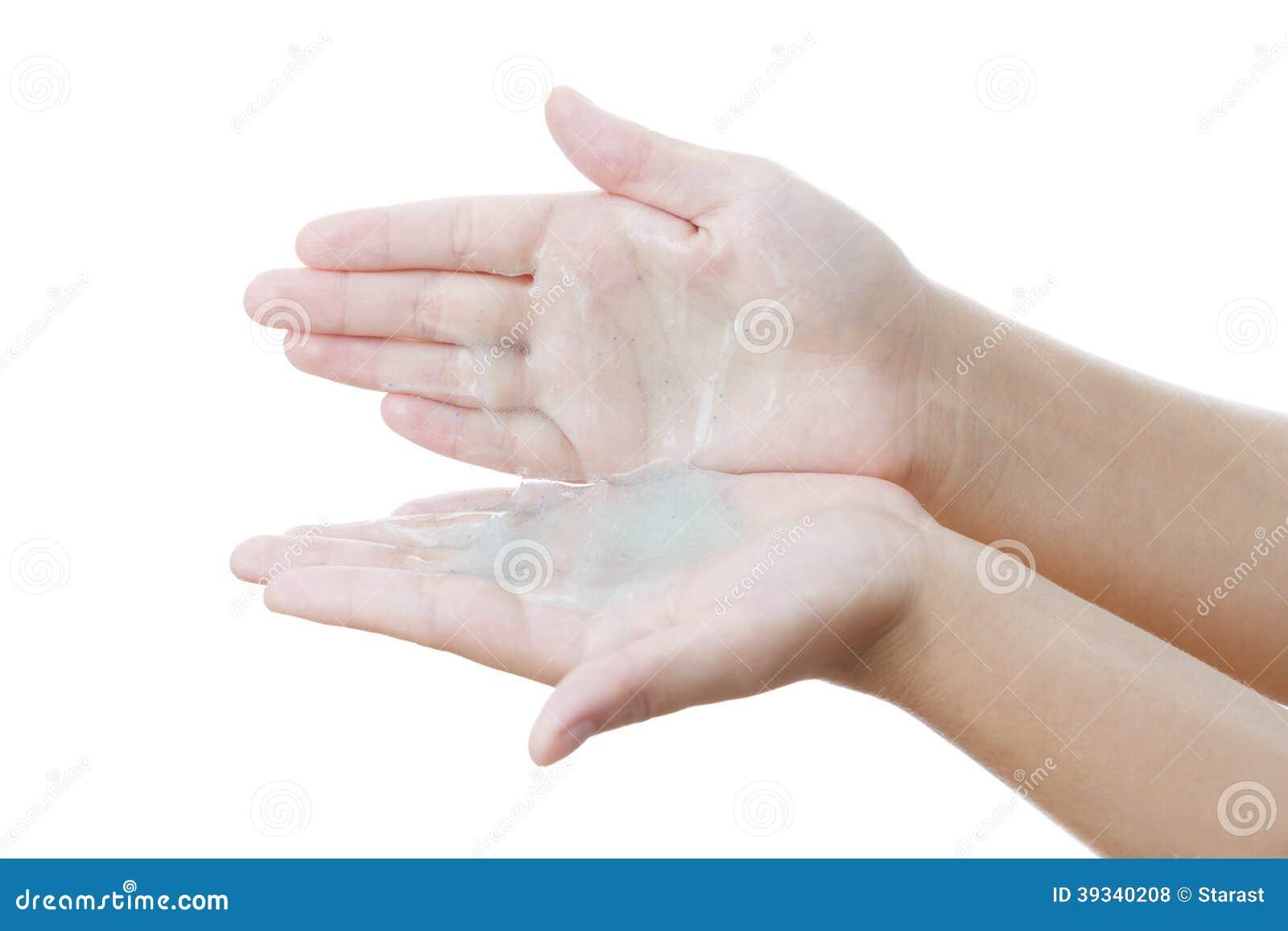 Apply Cream On Skin Hand Stock Photo - Image: 39340208