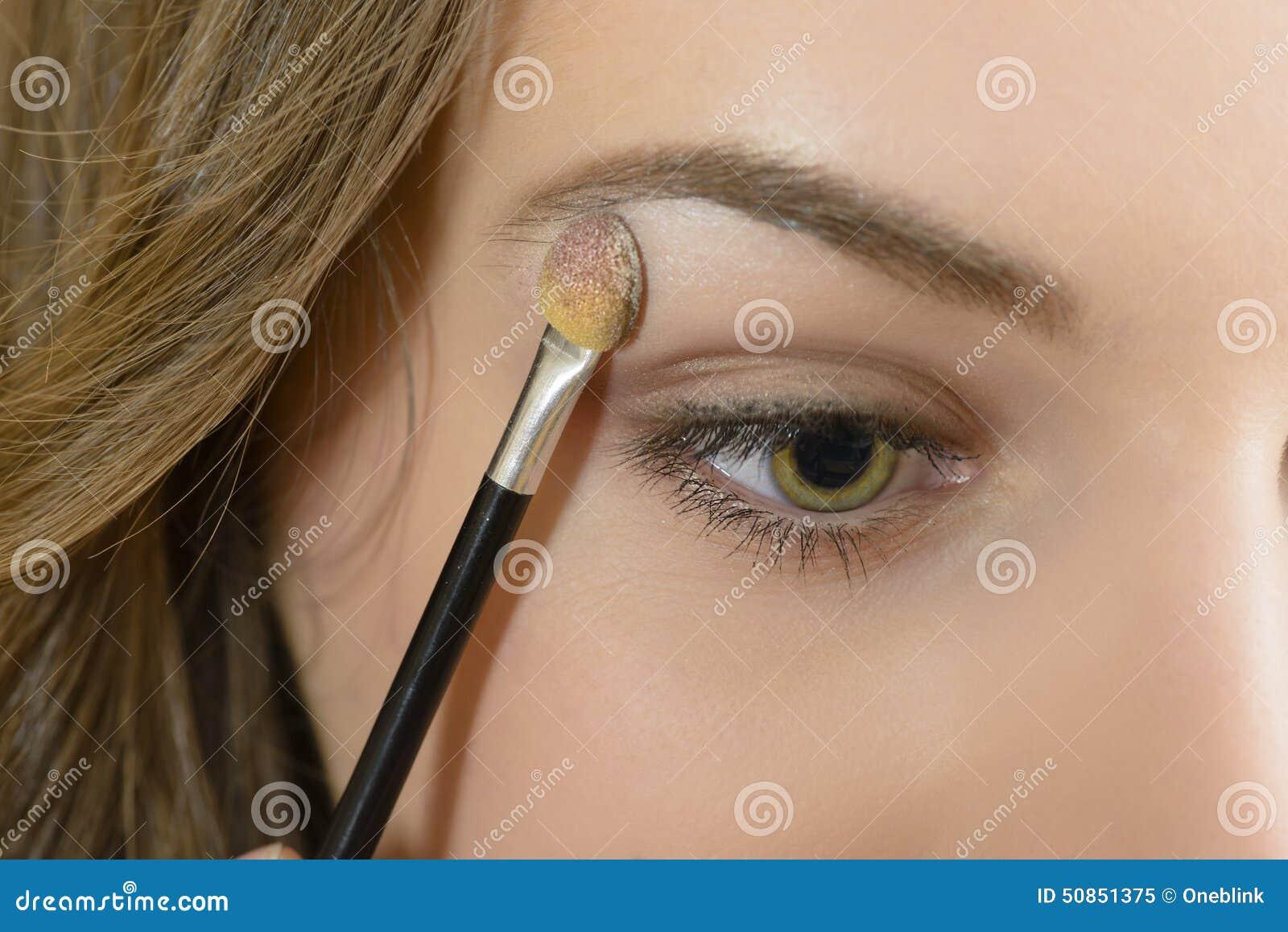 Applying Eyeshadow Stock Image Image Of Face Aging