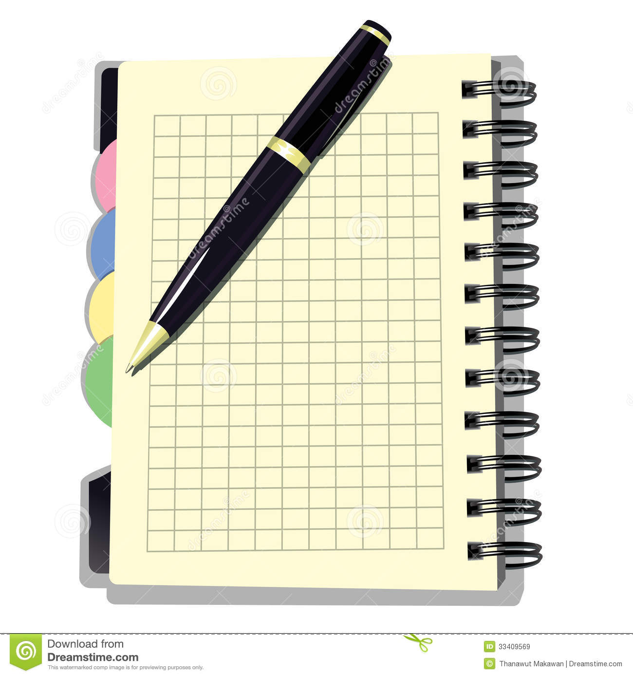 appointment book with pen stock vector illustration of isolated